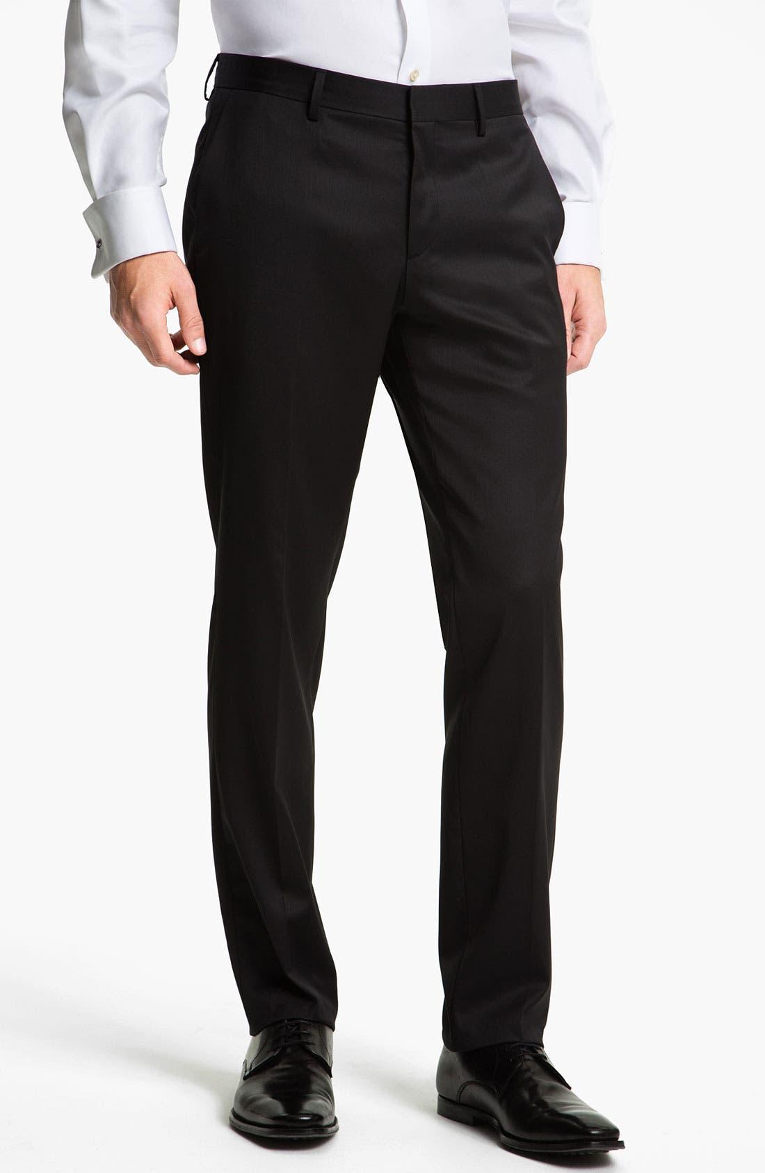 Alternate Image 1 Selected - BOSS Black 'Genesis' Formal Trousers