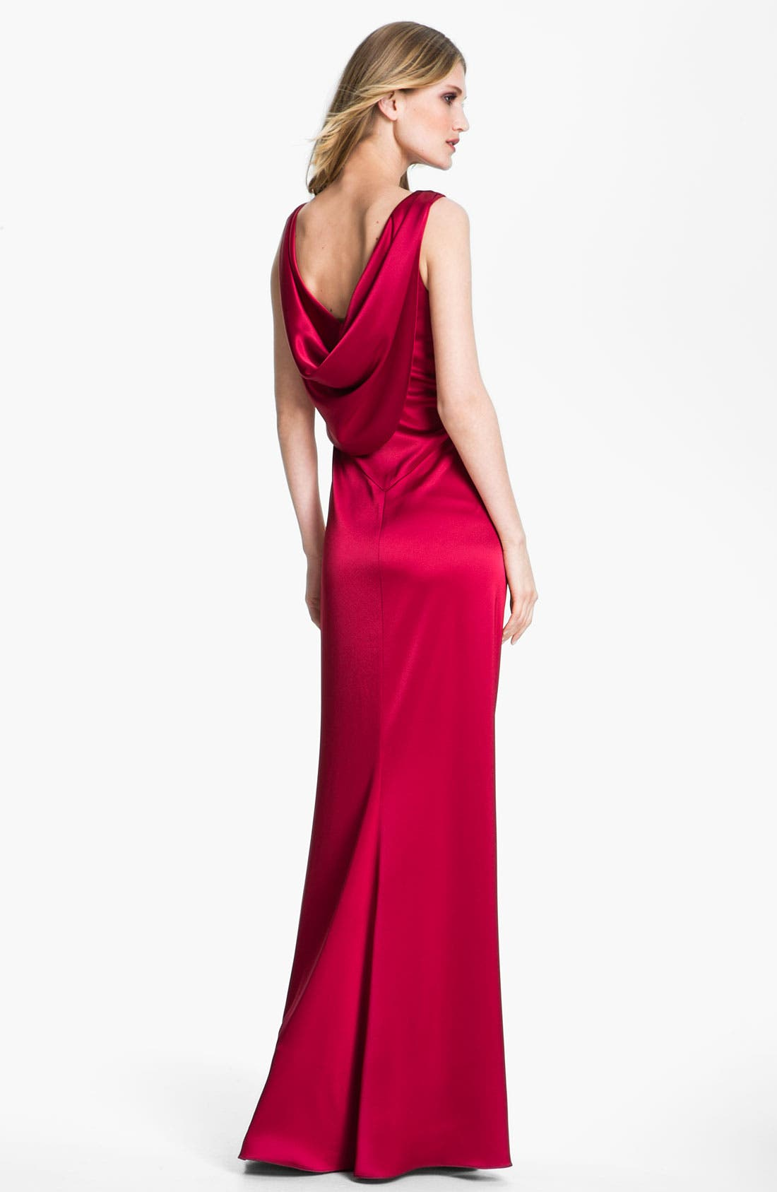 Alternate Image 2  - St. John Collection Liquid Satin Gown
