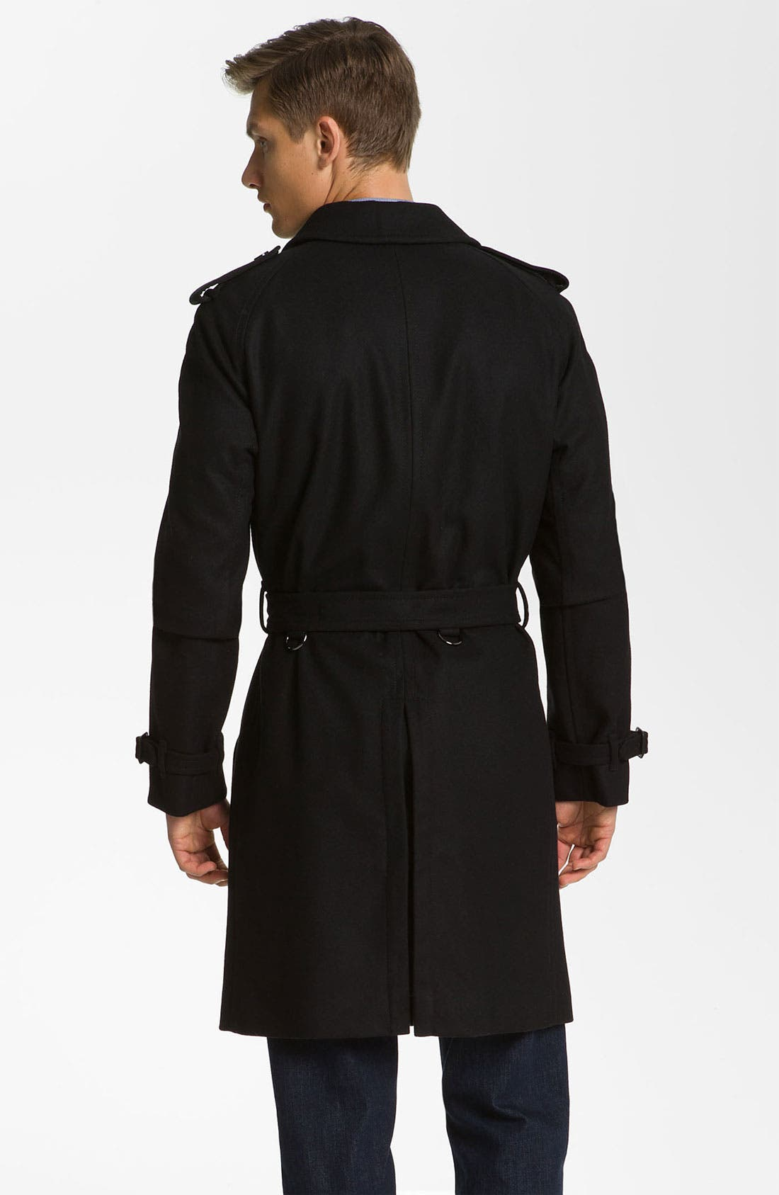 Alternate Image 2  - Burberry London Trim Fit Wool Blend Trench Coat