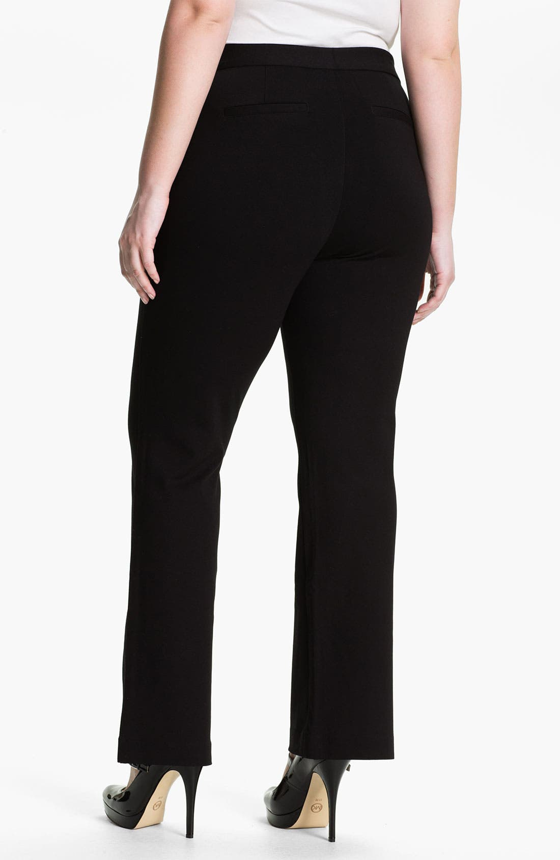 Alternate Image 2  - NYDJ Ponte Knit Trousers (Plus)