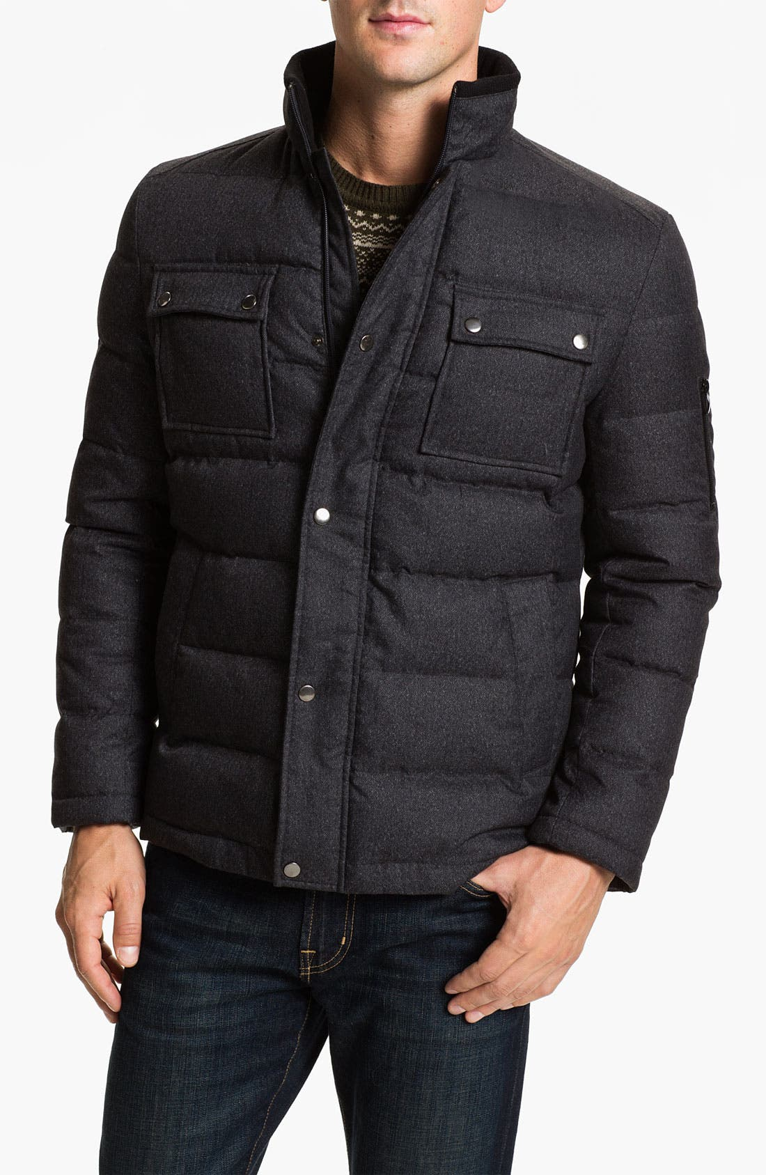Main Image - Cardinal of Canada Quilted Bomber Jacket