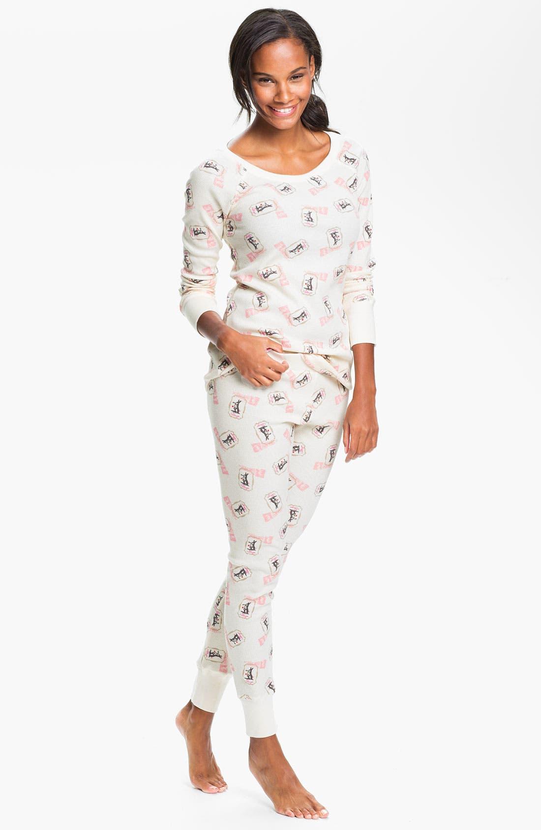 Alternate Image 1 Selected - Hue 'Huetopia' Thermal Pajamas