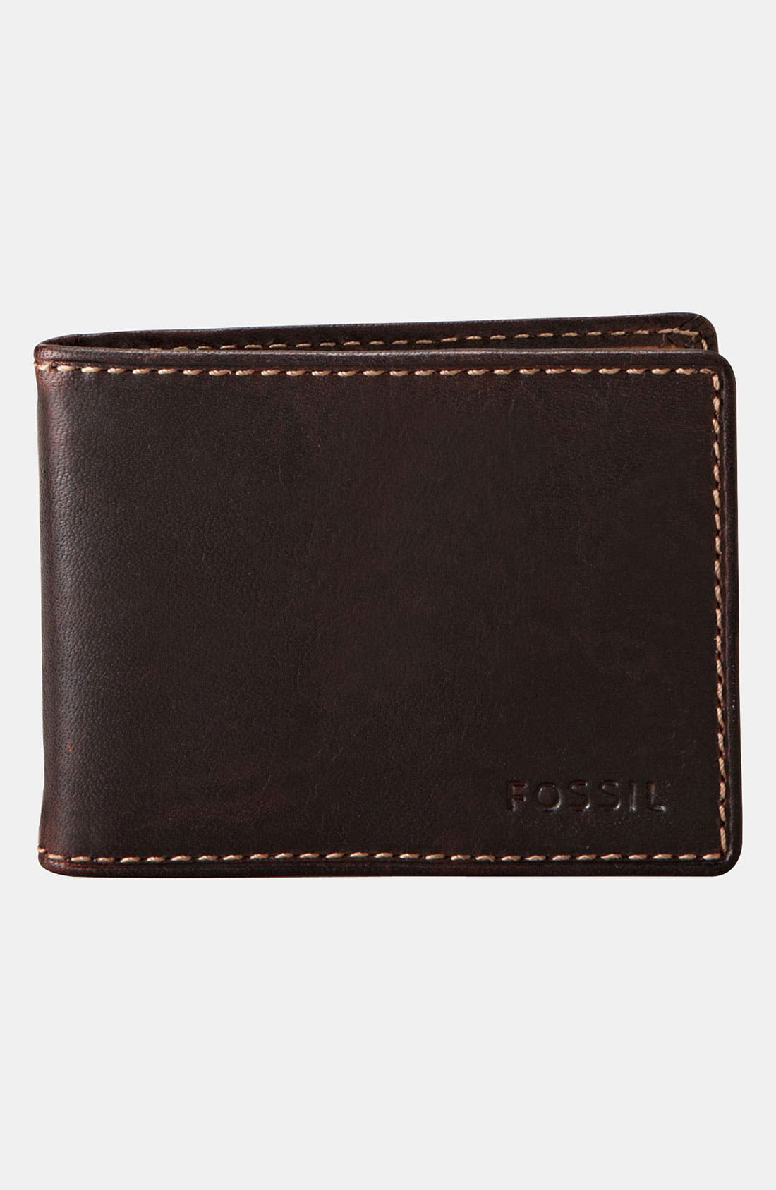 Main Image - Fossil 'Gusset' Money Clip Wallet