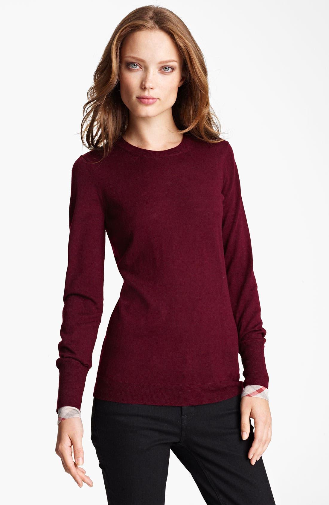 Alternate Image 1 Selected - Burberry Brit Merino Wool Sweater