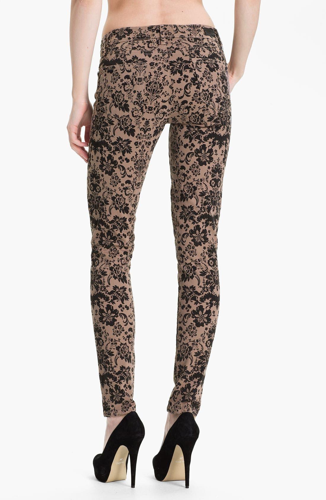 Alternate Image 2  - Paige Denim 'Verdugo' Print Skinny Jeans (Chai/Black)