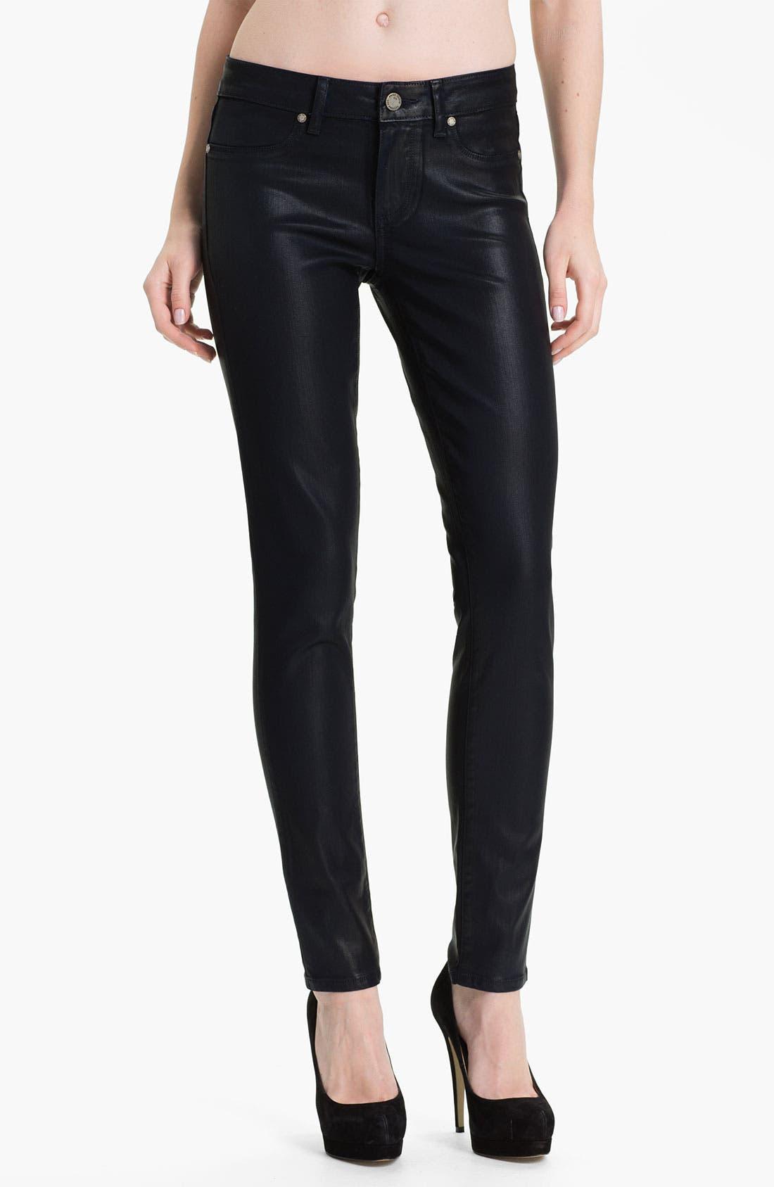 Main Image - Paige Denim 'Verdugo' Coated Stretch Denim Jeans (Azure Silk)