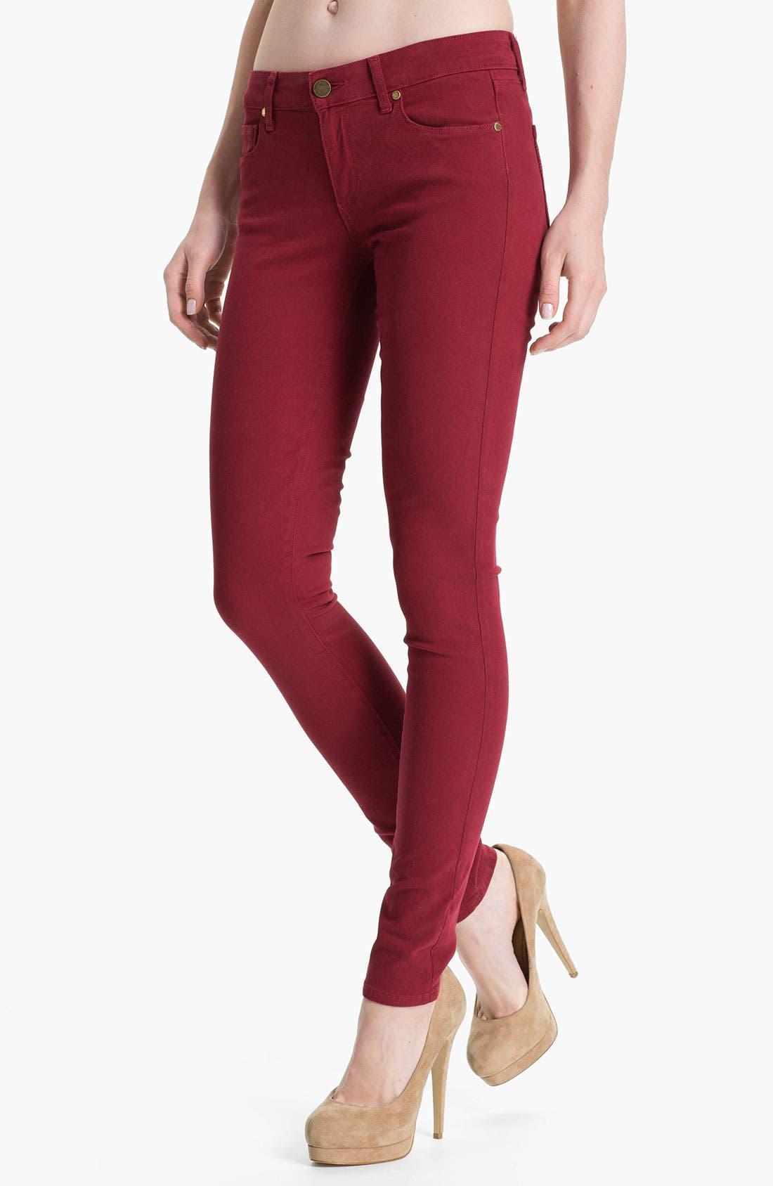 Alternate Image 1 Selected - Paige Denim 'Verdugo' Skinny Stretch Denim Jeans (Cardinal)