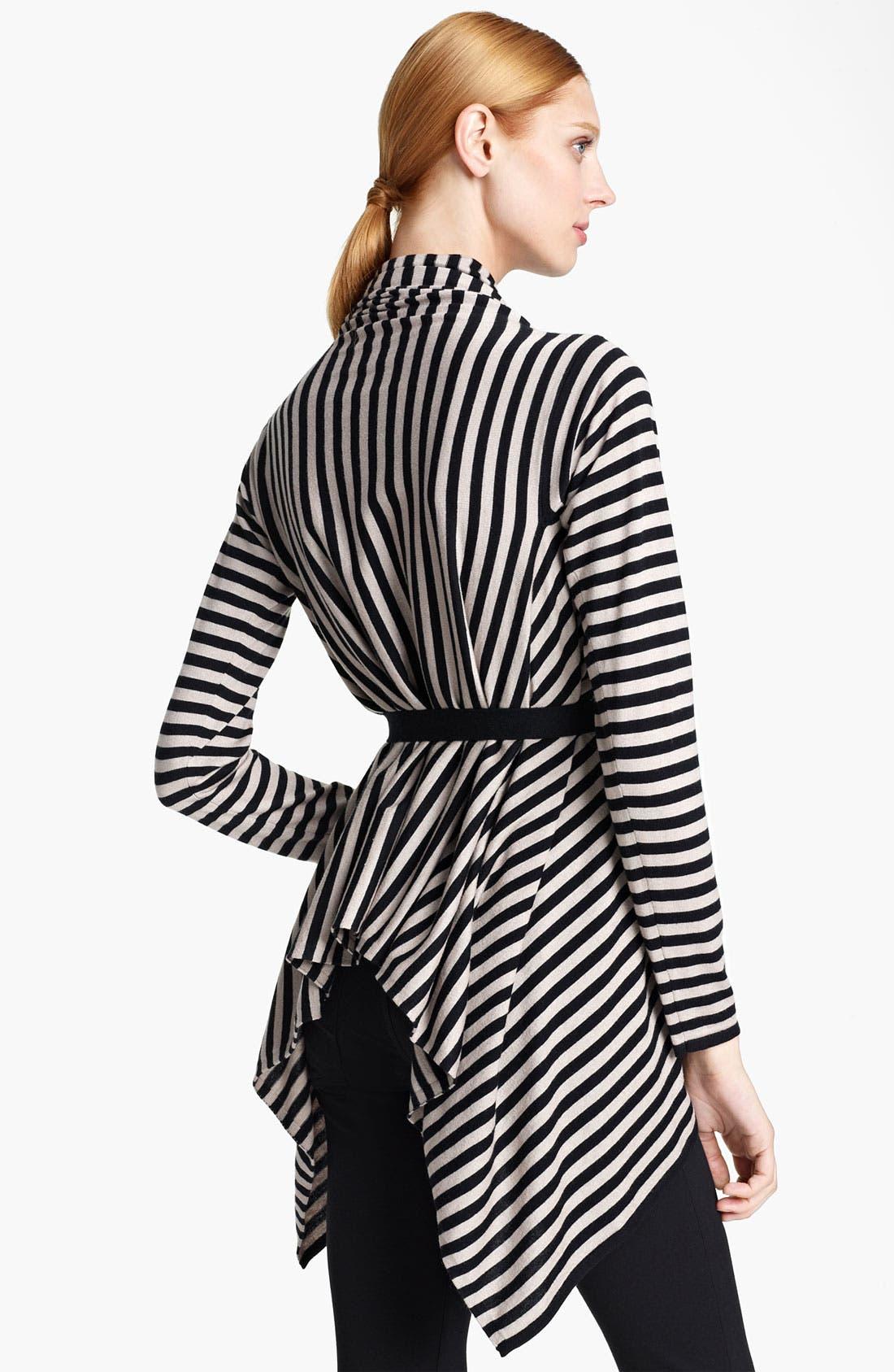 Alternate Image 2  - Max Mara 'Pineta' Stripe Silk & Cotton Cardigan