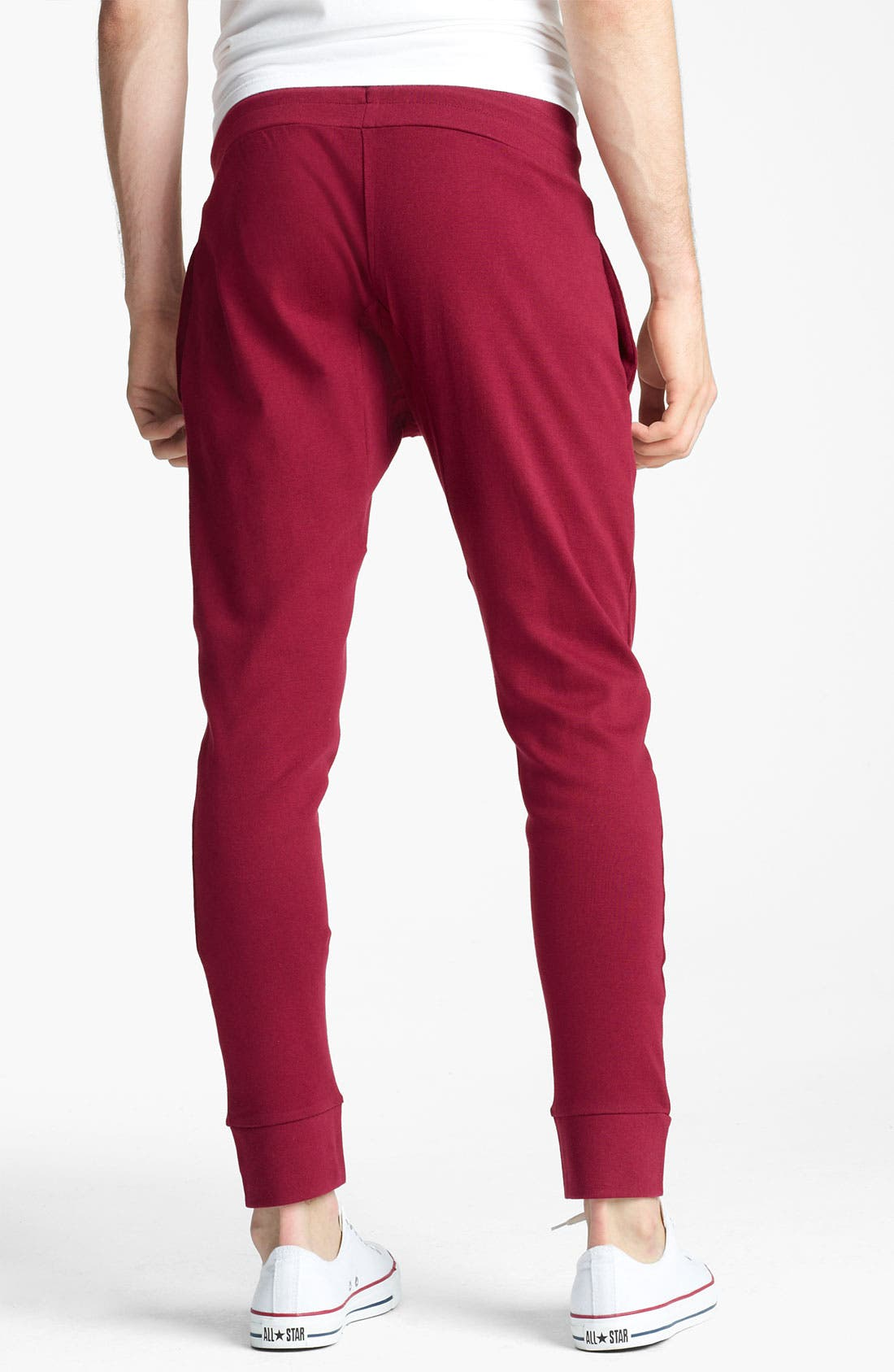 Alternate Image 2  - Topman Jersey Cotton Cropped Athletic Pants