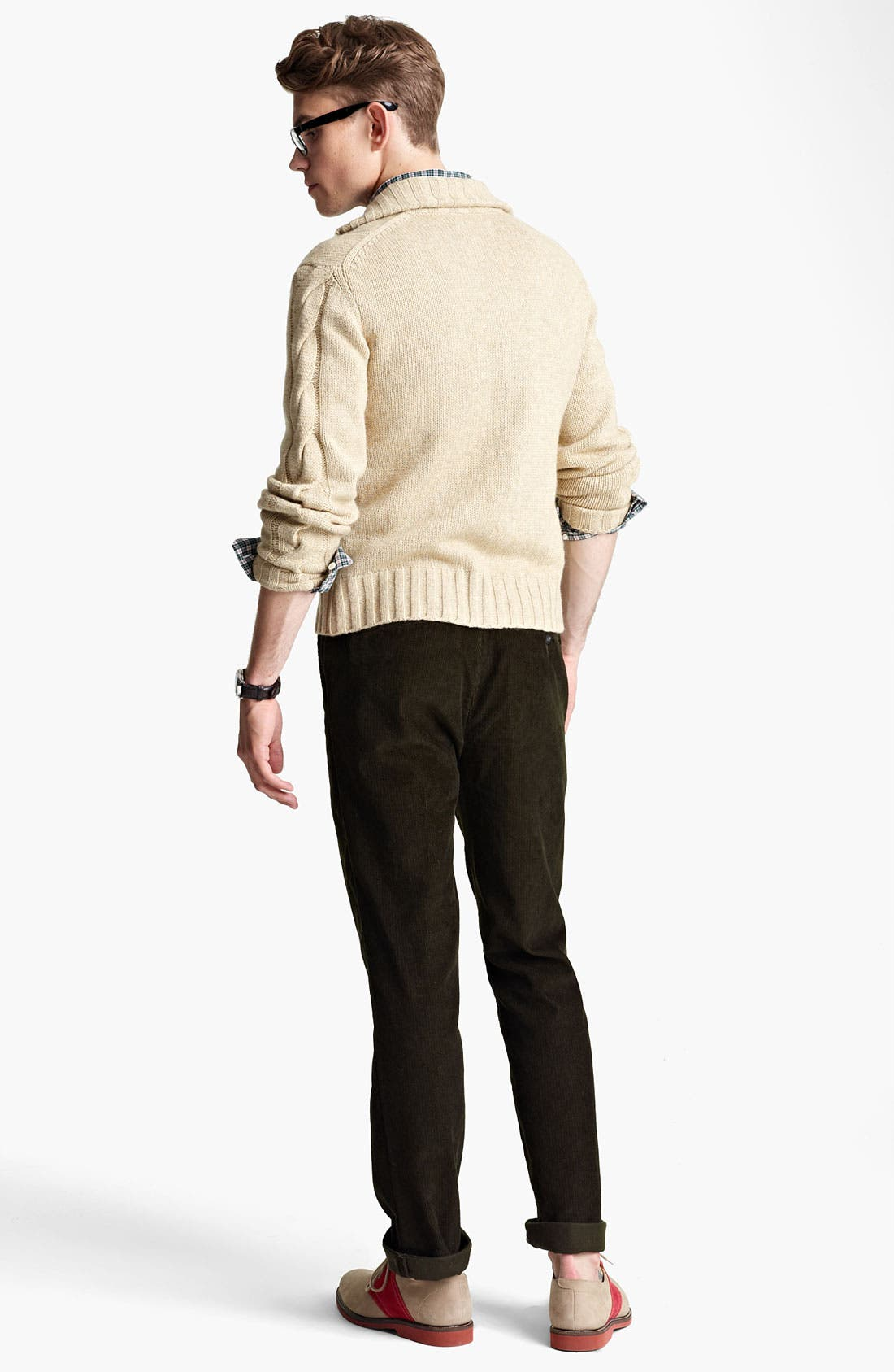 Alternate Image 5  - Jack Spade 'McGrady' Lambswool Cable Knit Sweater