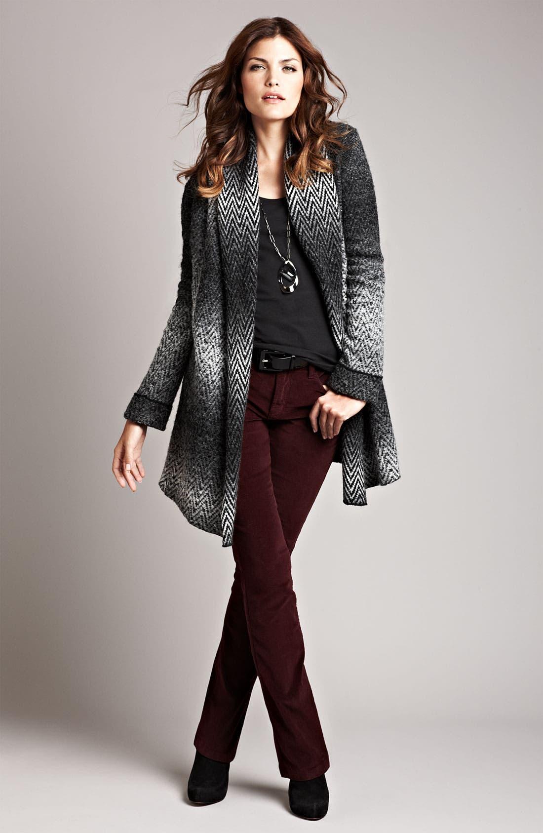 Alternate Image 4  - Beatrix Ost Herringbone Sweater Coat
