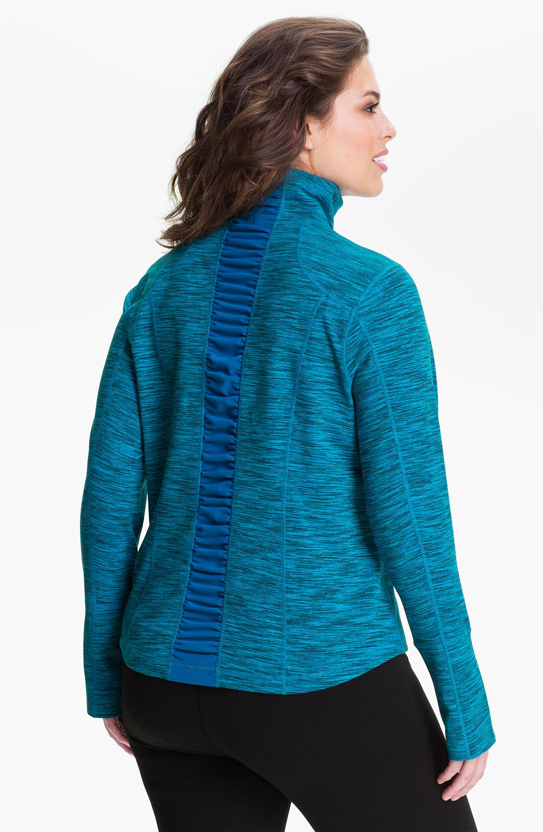 Alternate Image 1 Selected - Zella 'Sophia' Space Dye Jacket (Plus)