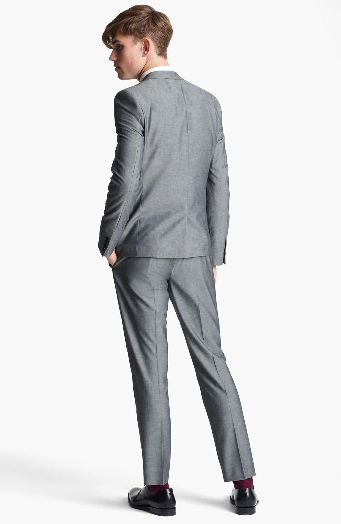 Alternate Image 5  - Topman 'Nottingham' Skinny Suit Jacket