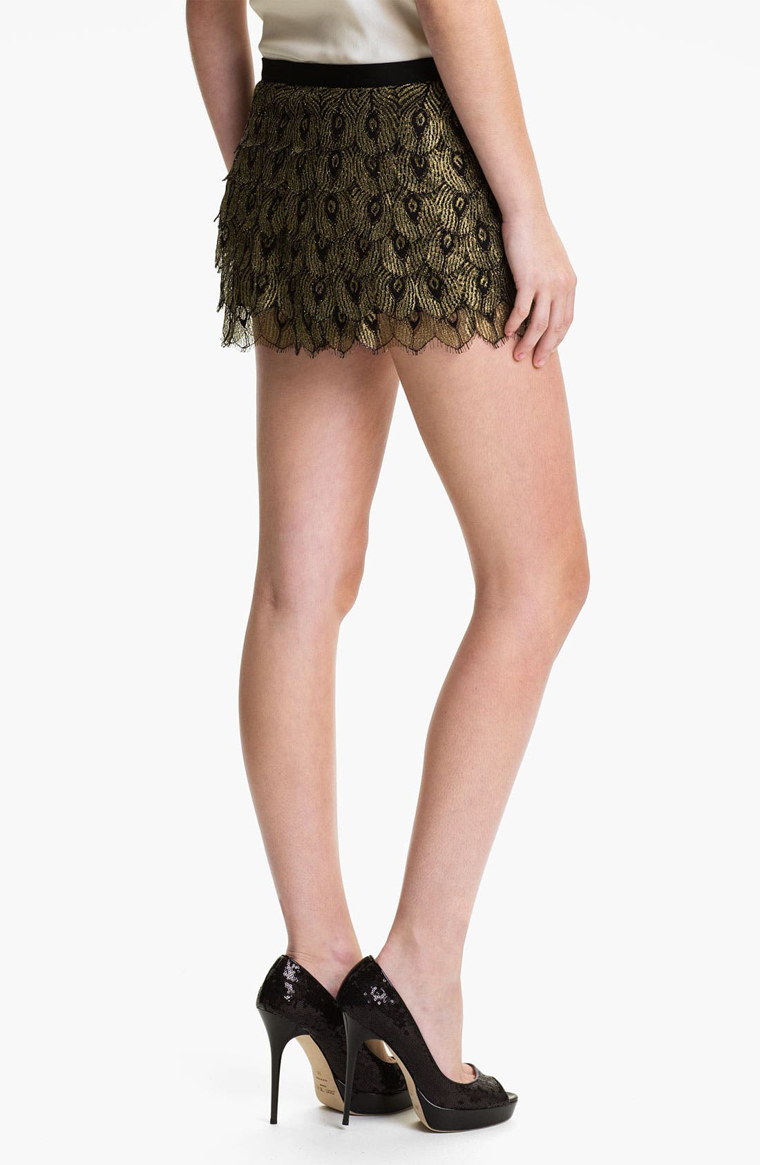 Alternate Image 2  - Haute Hippie 'Gilded Peacock' Lace Shorts