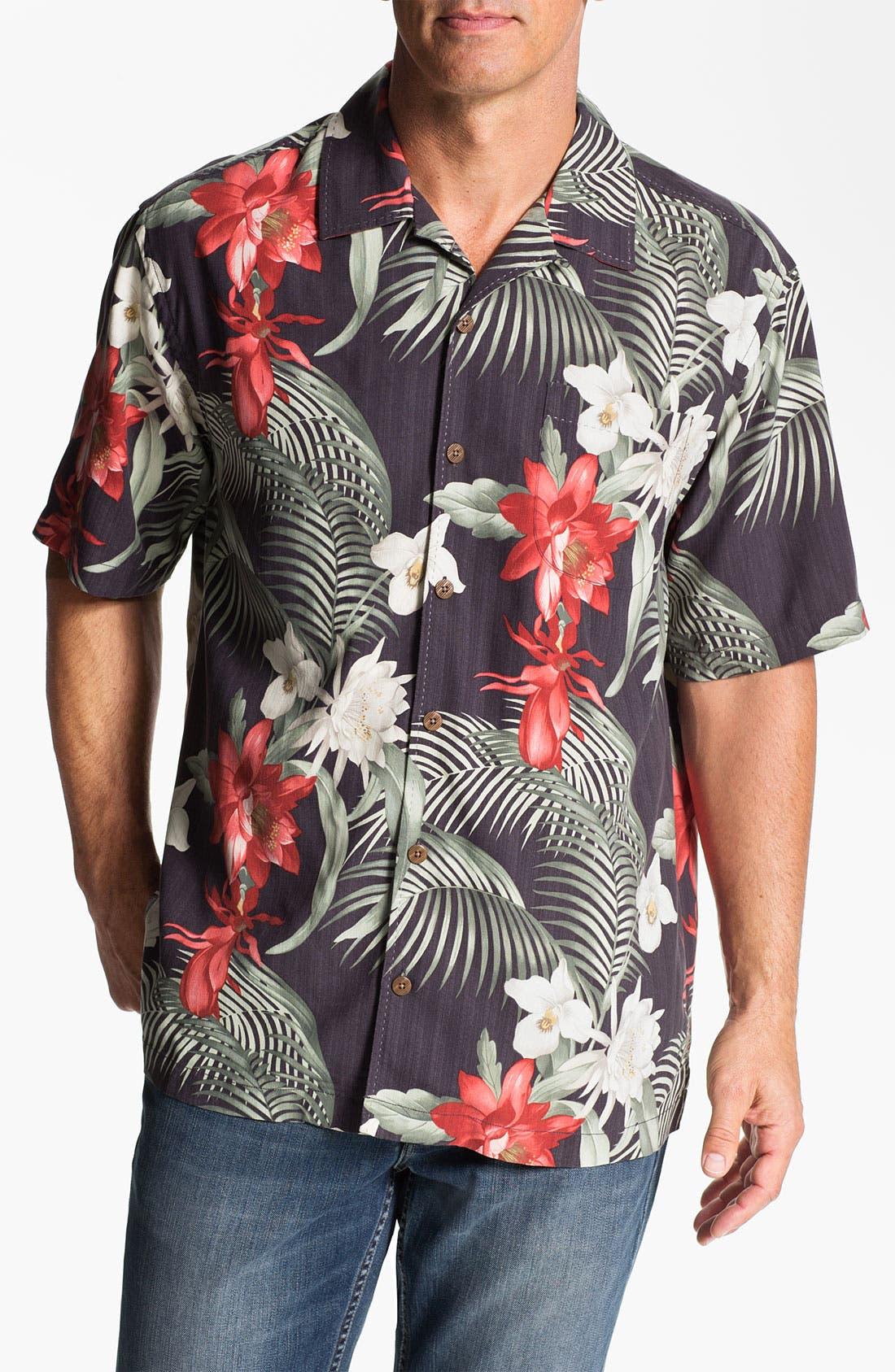 Main Image - Tommy Bahama 'Mediterranean Breeze' Silk Campshirt