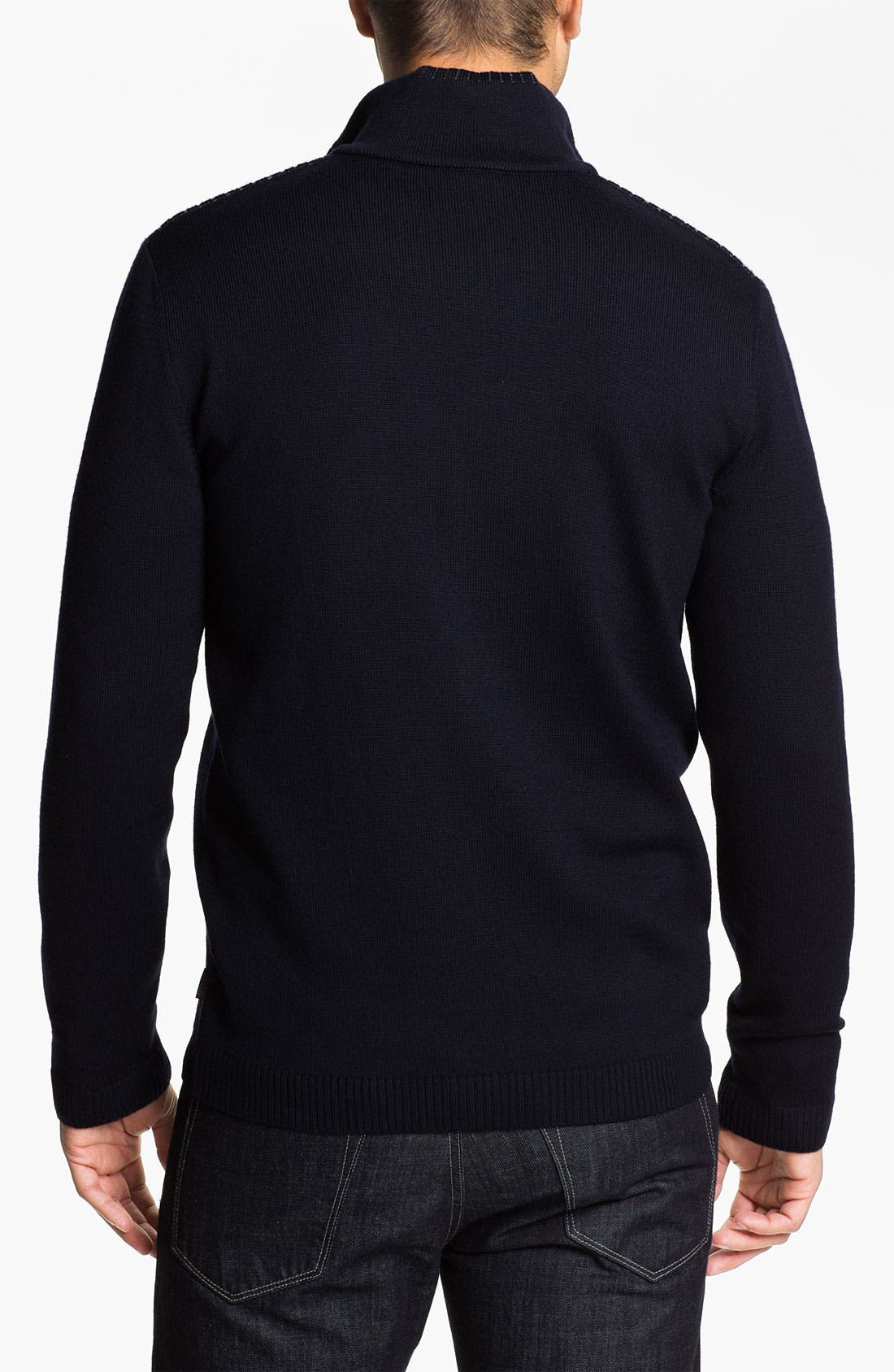 Alternate Image 2  - BOSS Black 'Laro' Wool Zip Cardigan