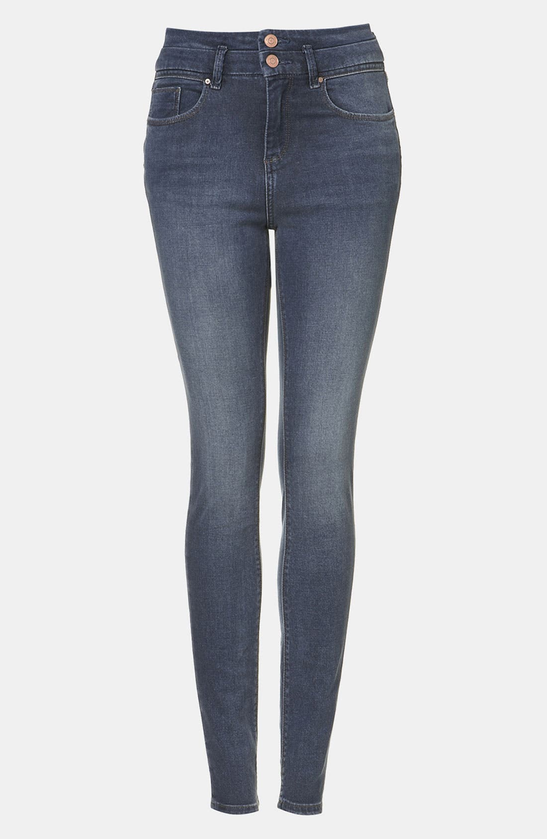 Alternate Image 1 Selected - Topshop Moto 'Kristen' High Waist Skinny Jeans (Midstone)