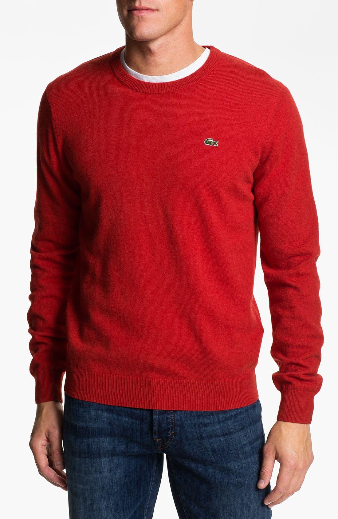 Main Image - Lacoste Crewneck Wool Sweater