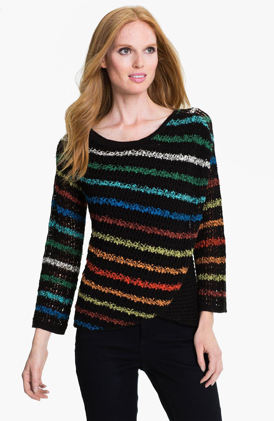 Main Image - Nic + Zoe Rainbow Stripe Sweater