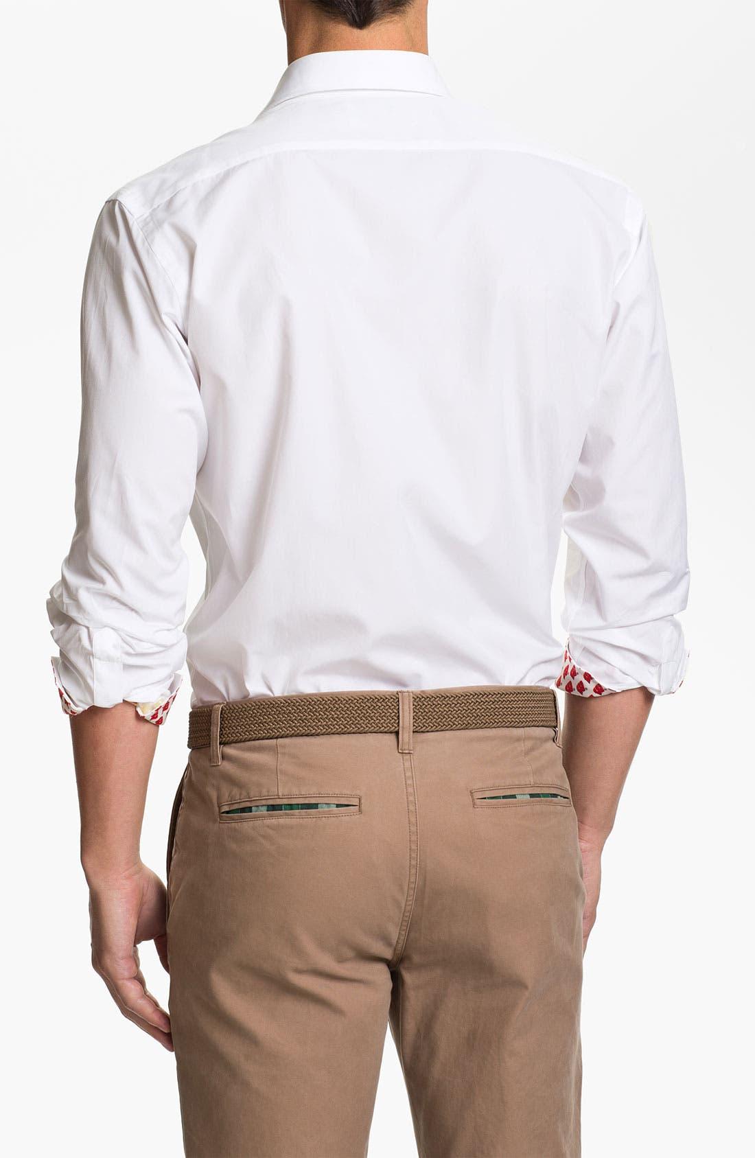 Alternate Image 2  - Thomas Dean 'University of Wisconsin' Regular Fit Sport Shirt