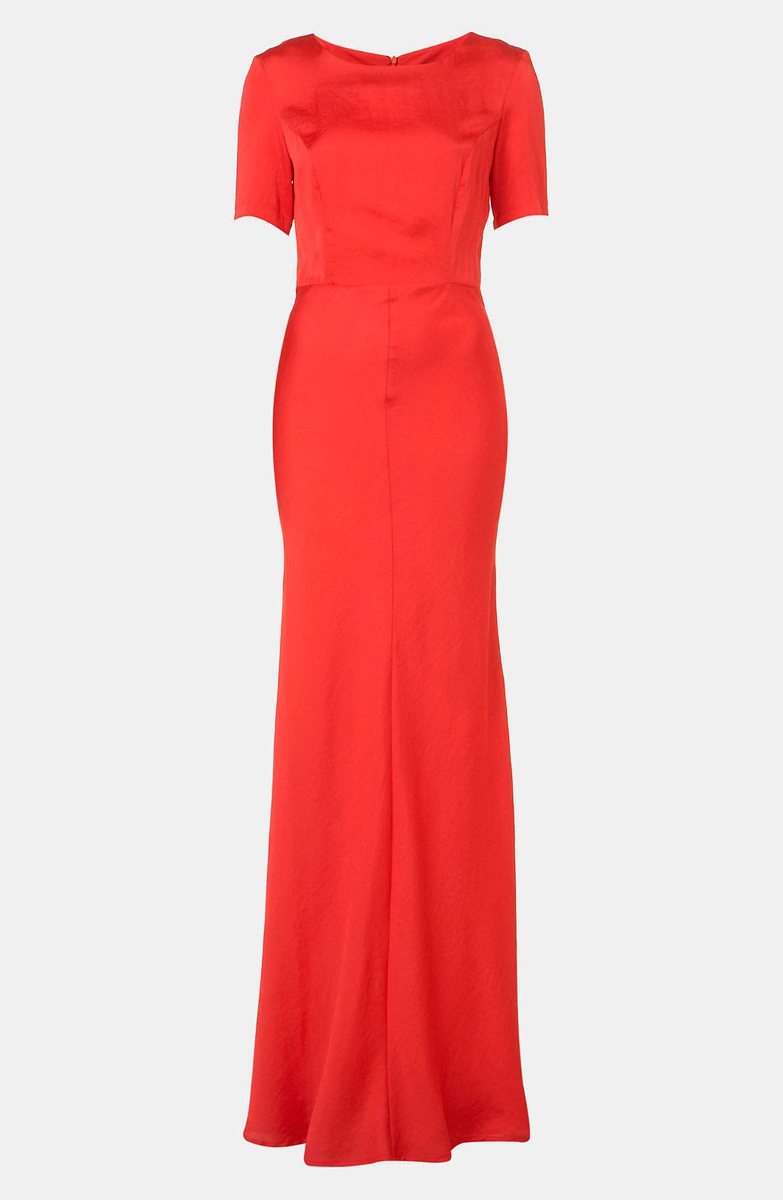 Main Image - Topshop Fitted Short Sleeve Maxi Dress