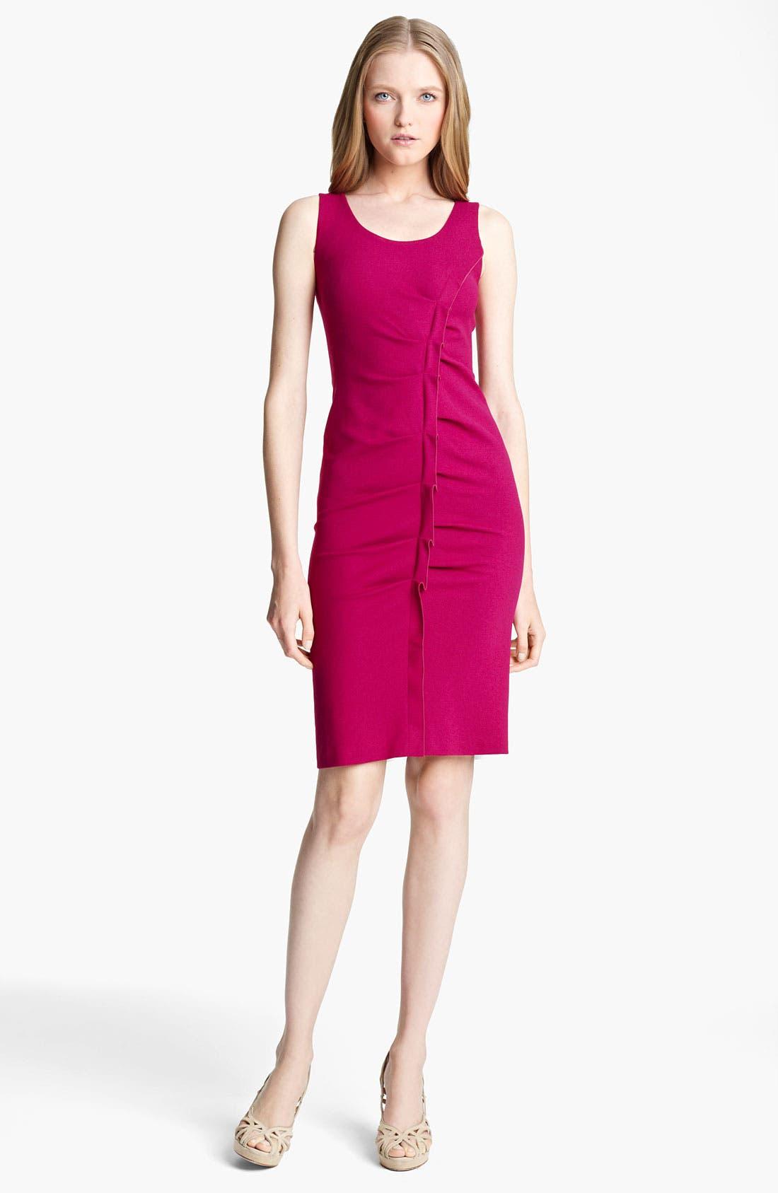 Main Image - Armani Collezioni Tuck Detail Jersey Dress