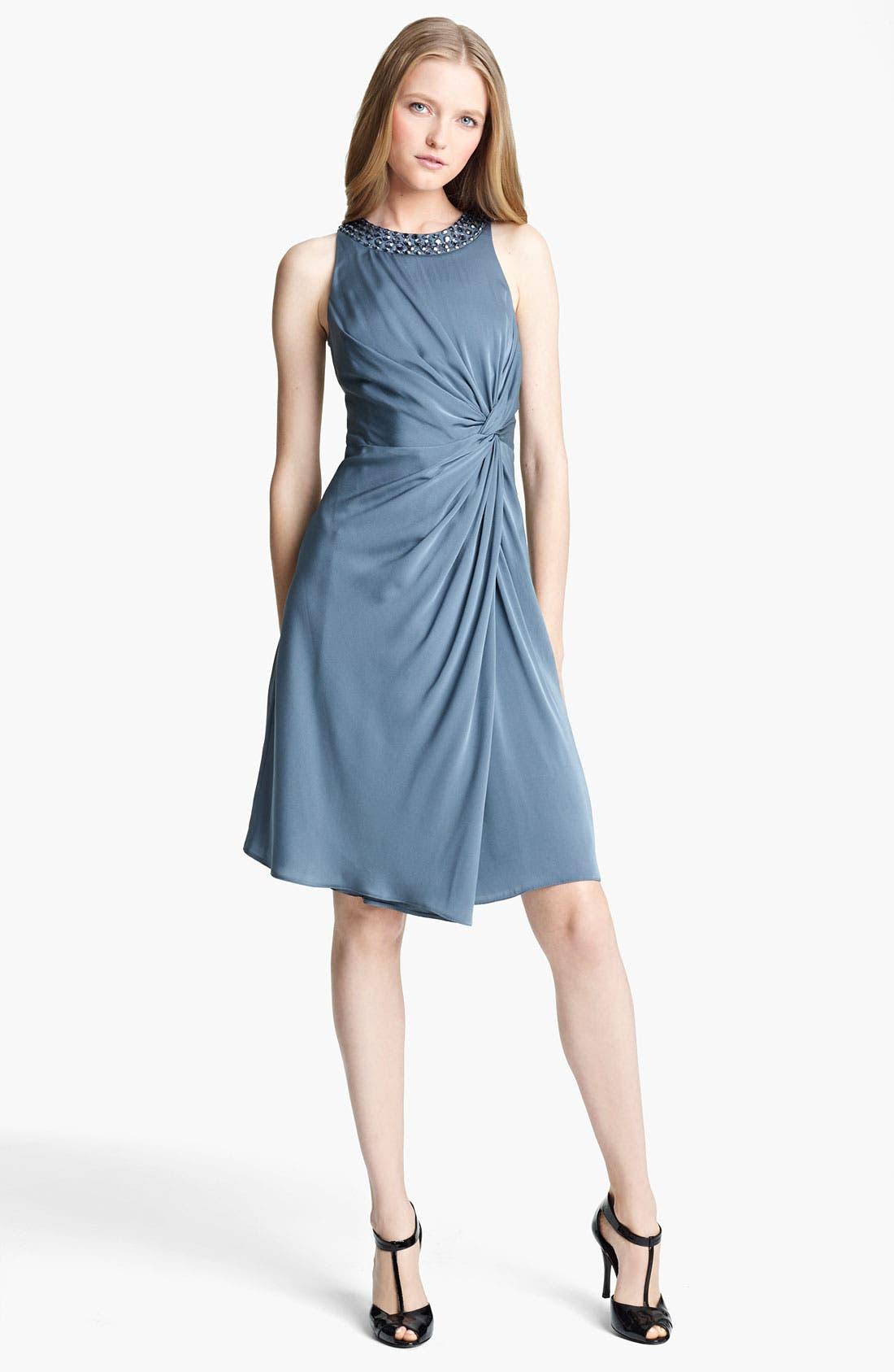 Main Image - Armani Collezioni Matte Silk Cocktail Dress