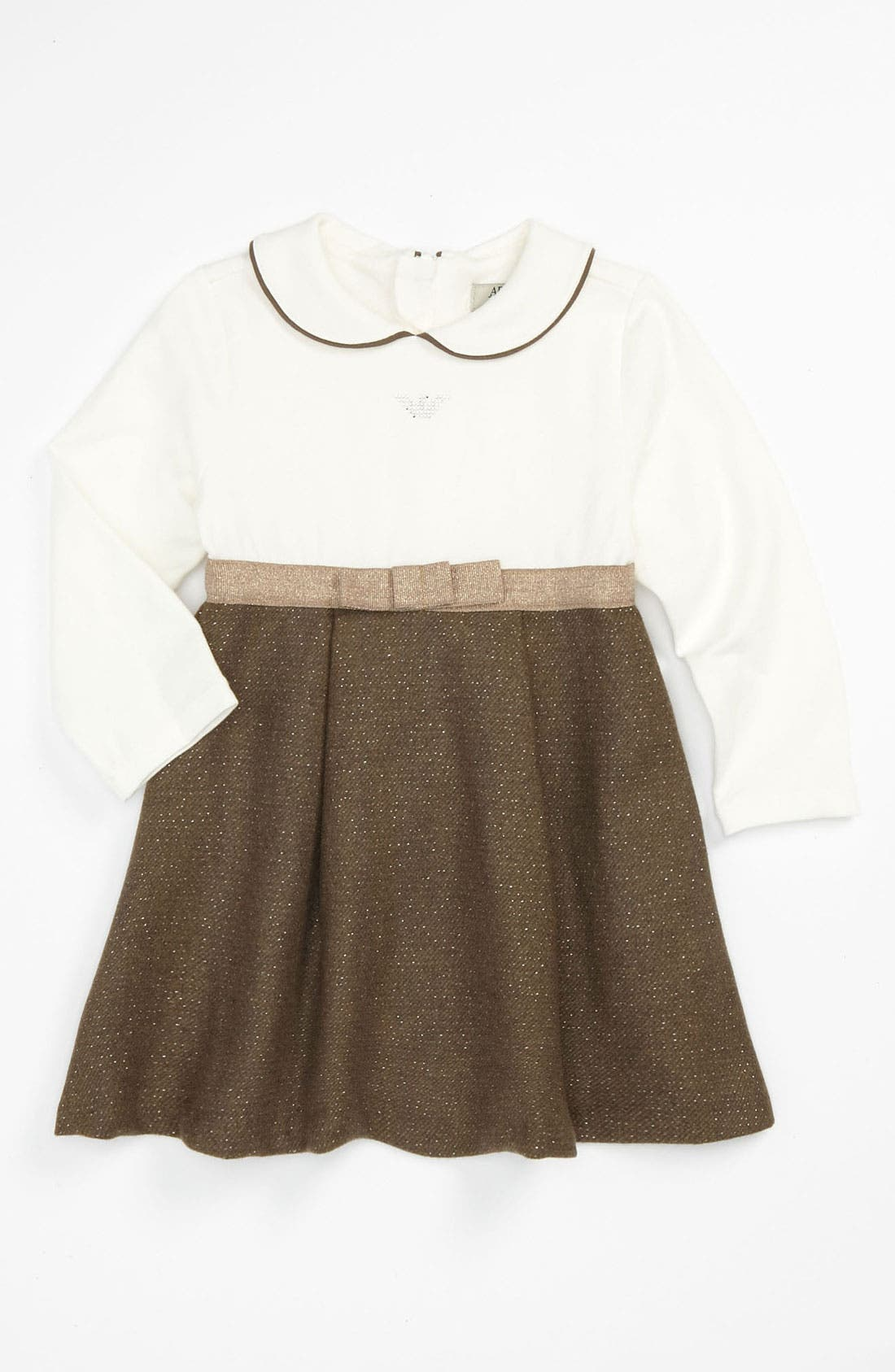 Main Image - Armani Junior Empire Waist Dress (Infant)