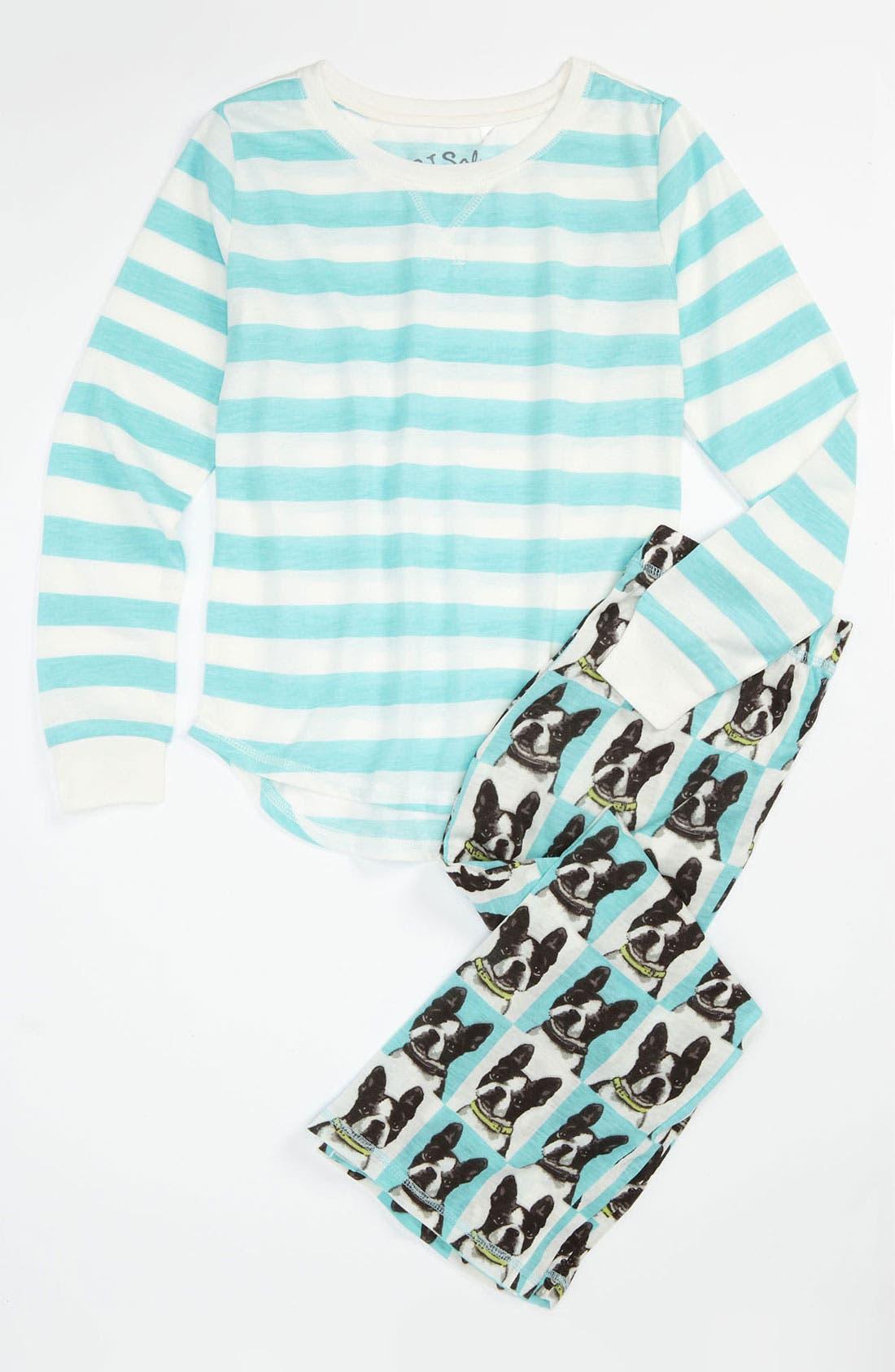 Alternate Image 1 Selected - PJ Salvage Graphic Pajama Set (Little Girls & Big Girls)