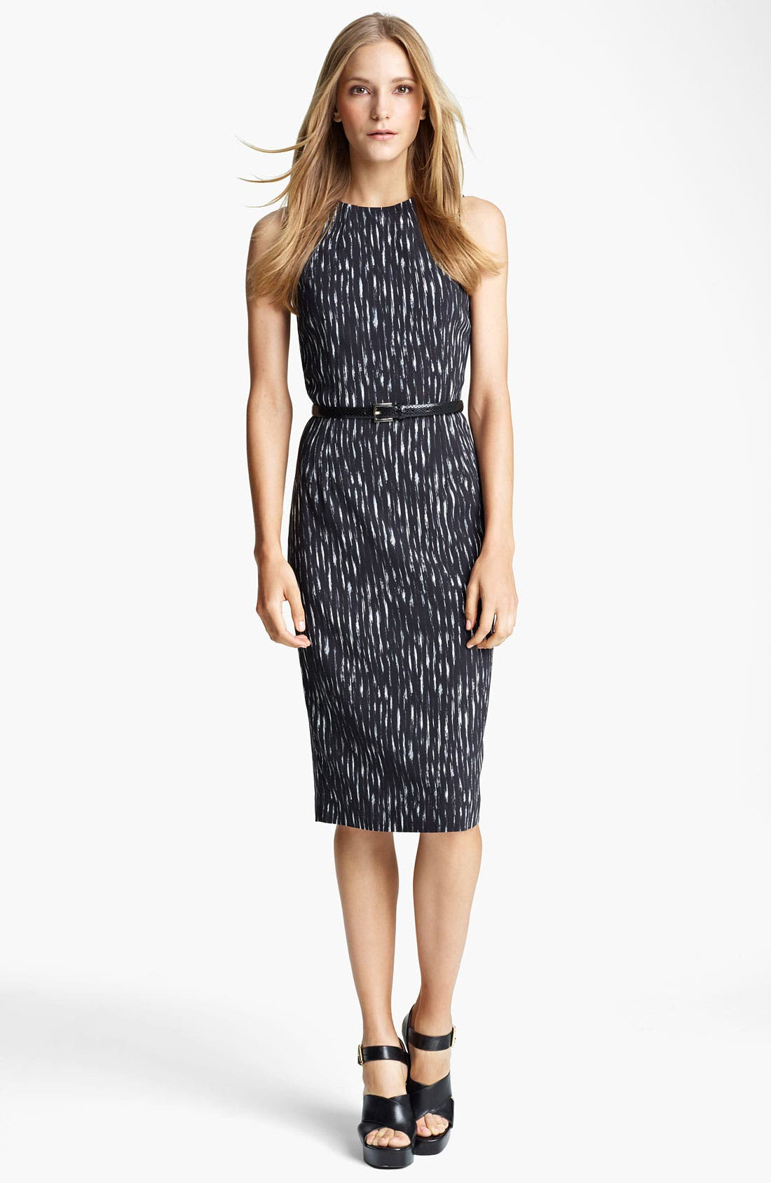 Alternate Image 1 Selected - Michael Kors Ikat Print Cady Sheath Dress