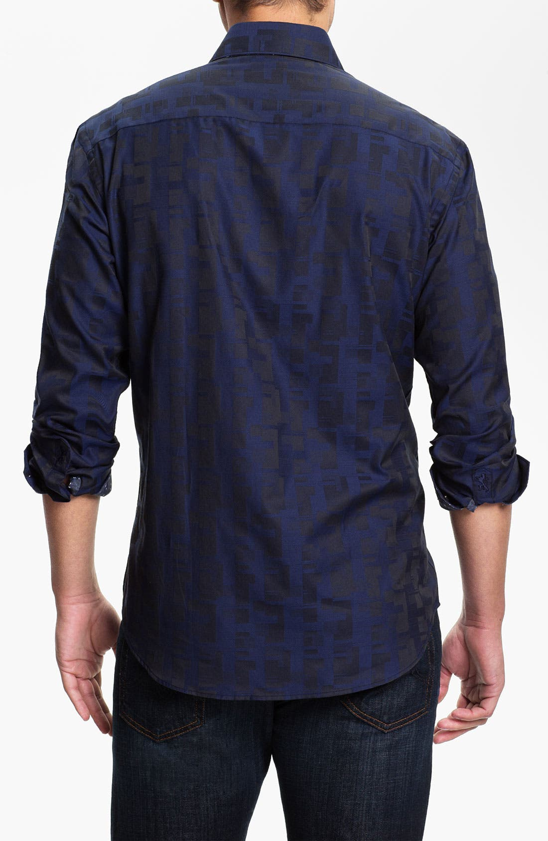 Alternate Image 3  - Bugatchi Uomo Shaped Fit Sport Shirt