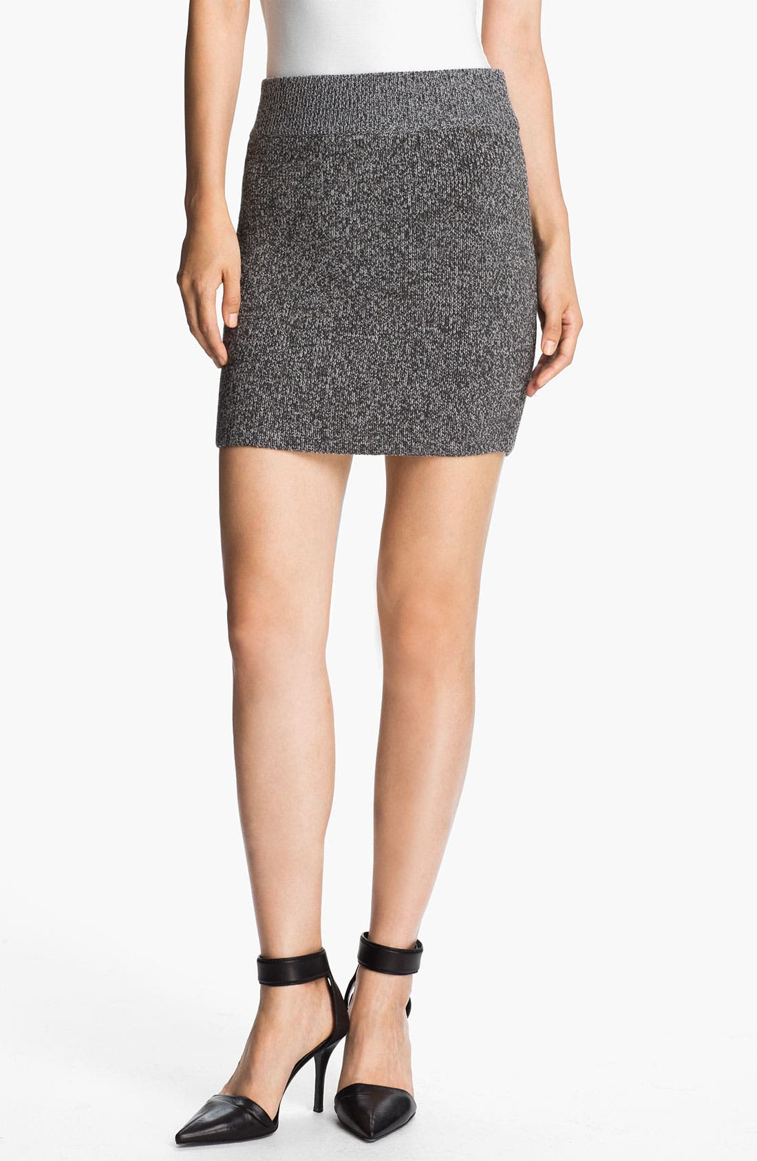 Alternate Image 1 Selected - T by Alexander Wang Marled Knit Miniskirt