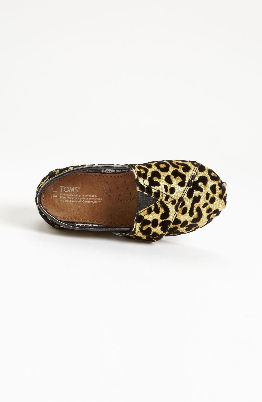 Alternate Image 3  - TOMS 'Classic Tiny - Glitter' Print Slip-On (Baby, Walker & Toddler)(Nordstrom Exclusive)