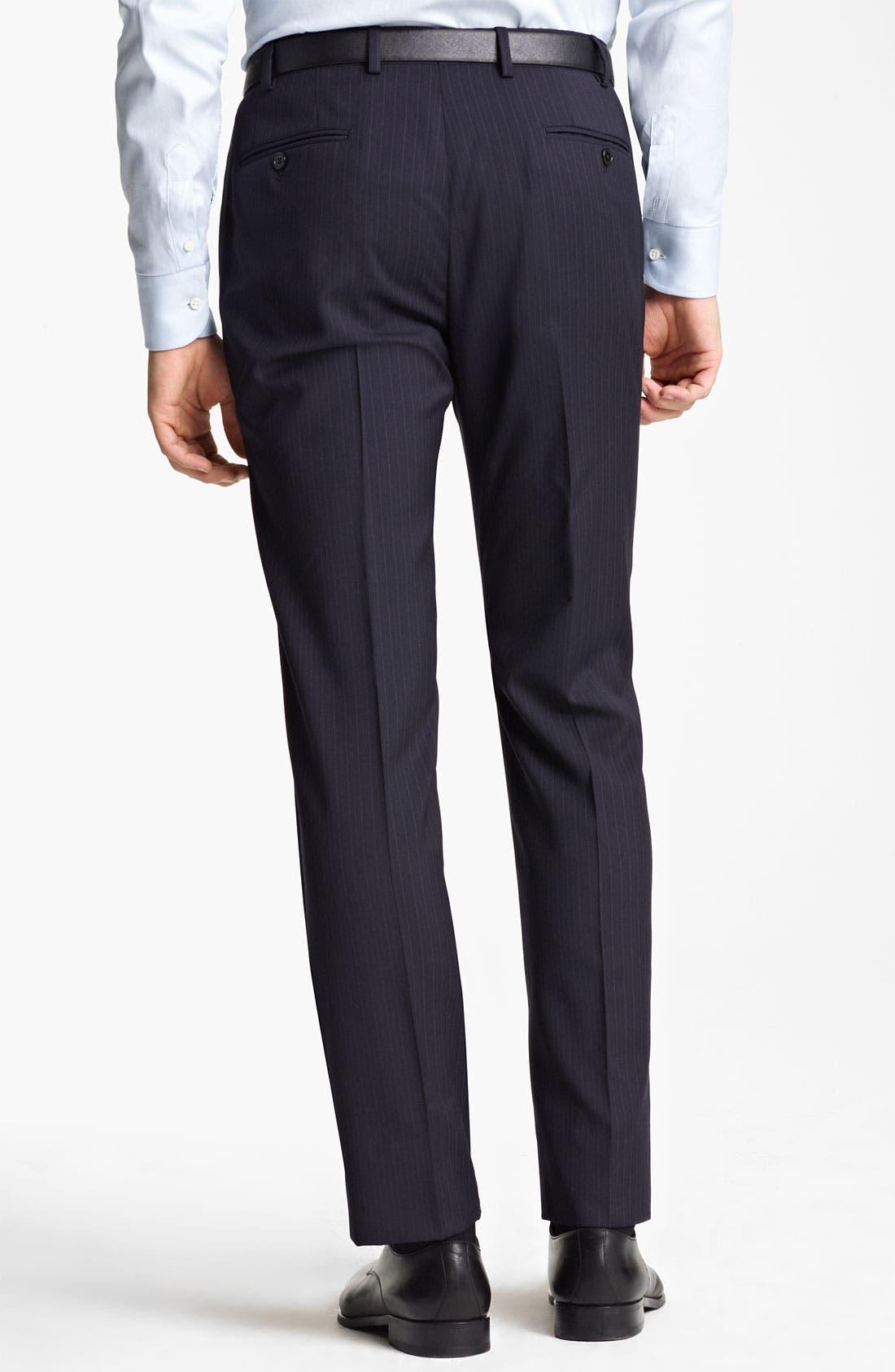 Alternate Image 5  - Armani Collezioni Trim Fit Stripe Suit