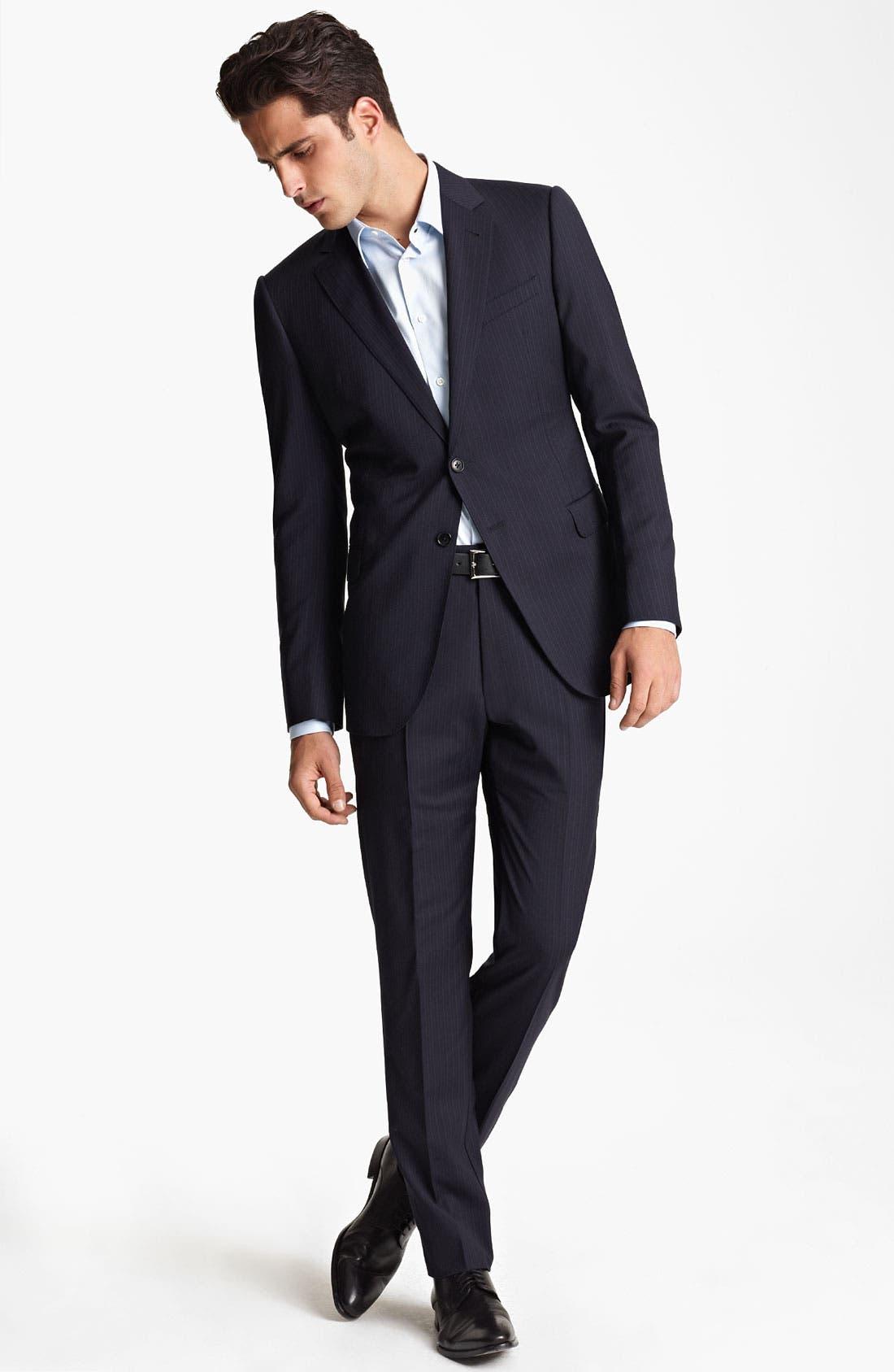Alternate Image 2  - Armani Collezioni Trim Fit Stripe Suit