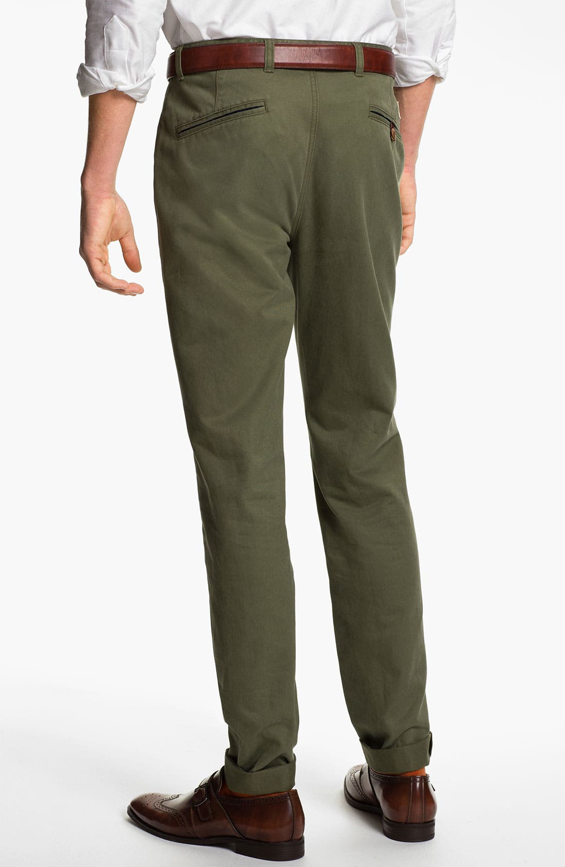 Alternate Image 2  - Brooks Brothers 'University' Slim Fit Chinos