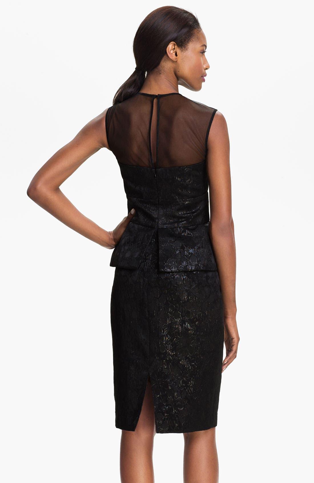 Alternate Image 2  - Maggy London Sleeveless Illusion Yoke Peplum Dress