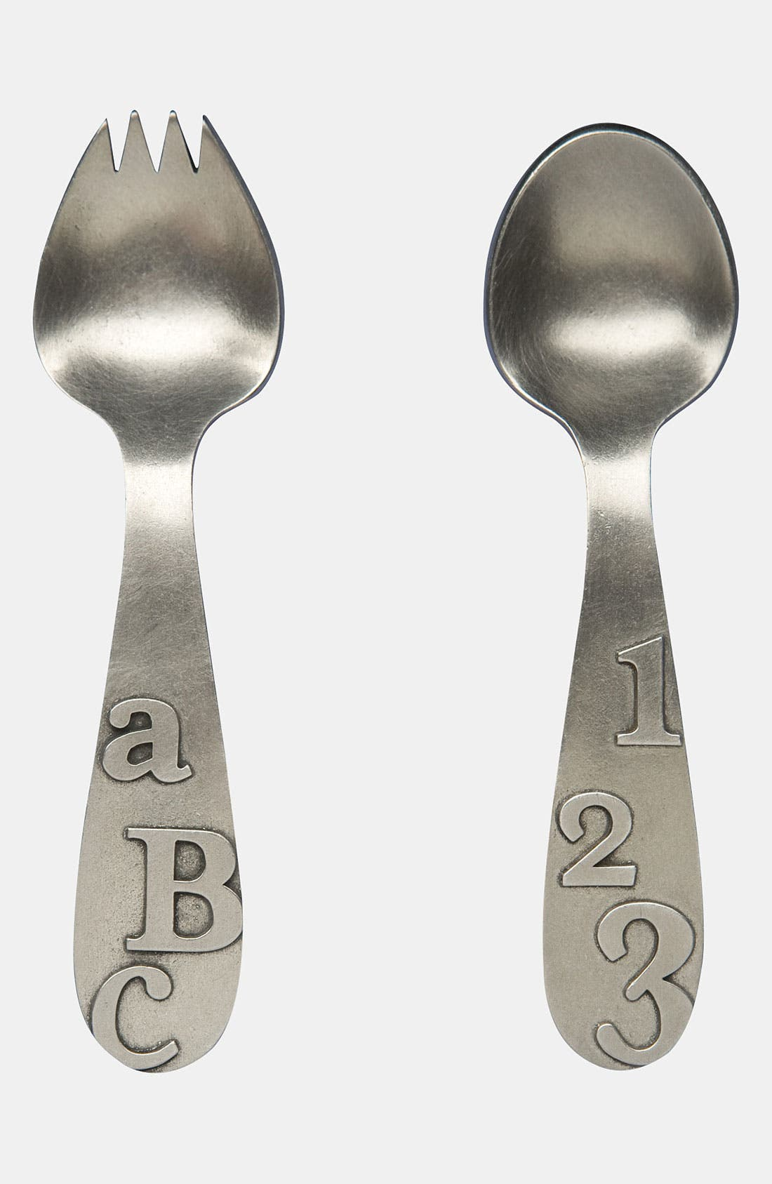 Main Image - Beehive Kitchenware 'ABC/123' Keepsake Spoon & Fork Set