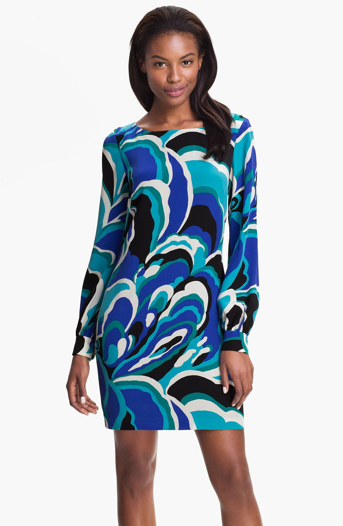 Alternate Image 1 Selected - Trina Turk 'Elektra' Printed Silk Shift Dress