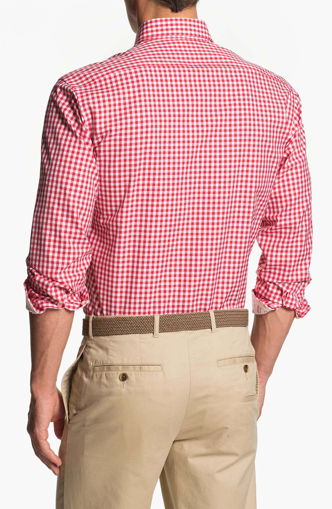 Alternate Image 2  - Thomas Dean 'University of Arkansas' Regular Fit Gingham Sport Shirt