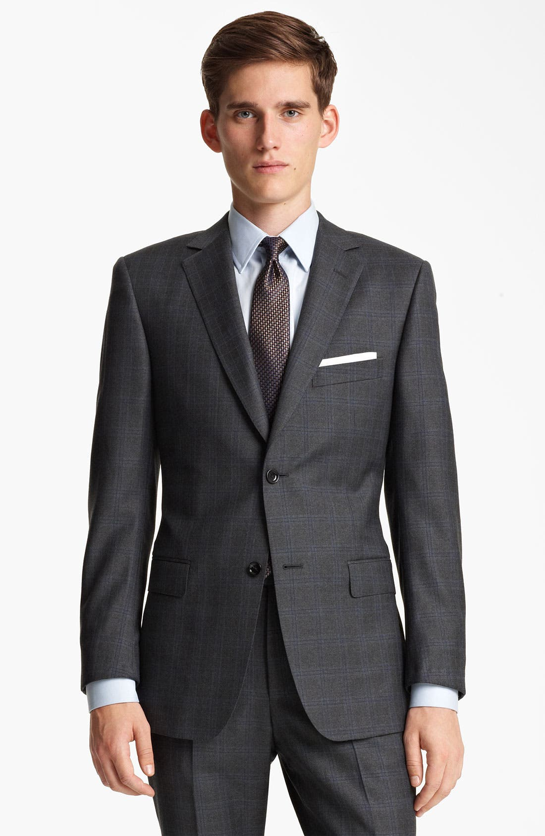 Alternate Image 1 Selected - Z Zegna Trim Fit Check Wool Suit