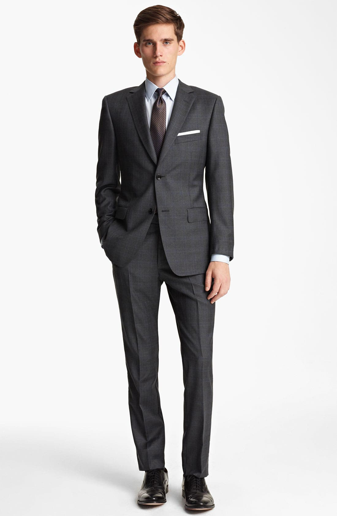 Alternate Image 2  - Z Zegna Trim Fit Check Wool Suit