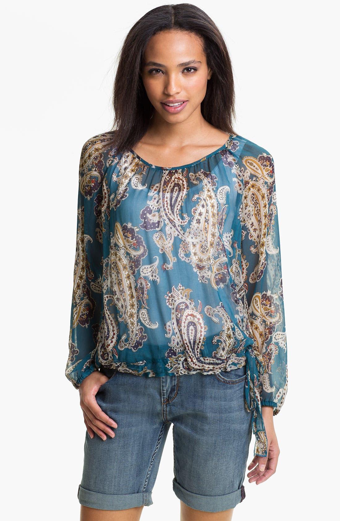 Main Image - Lucky Brand 'Bianca' Paisley Blouse