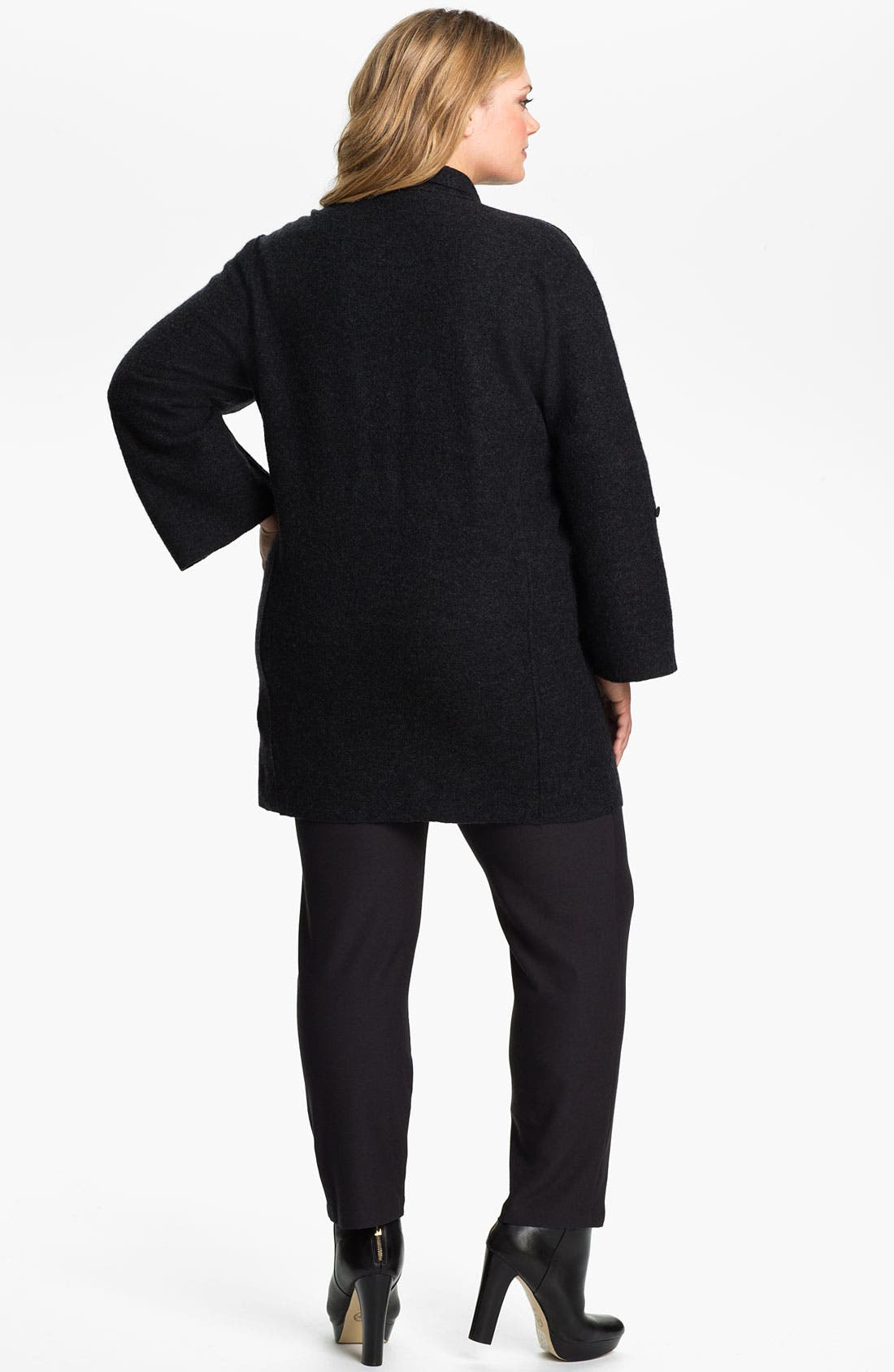 Alternate Image 4  - Eileen Fisher Merino Wool Roll Sleeve Jacket (Plus)