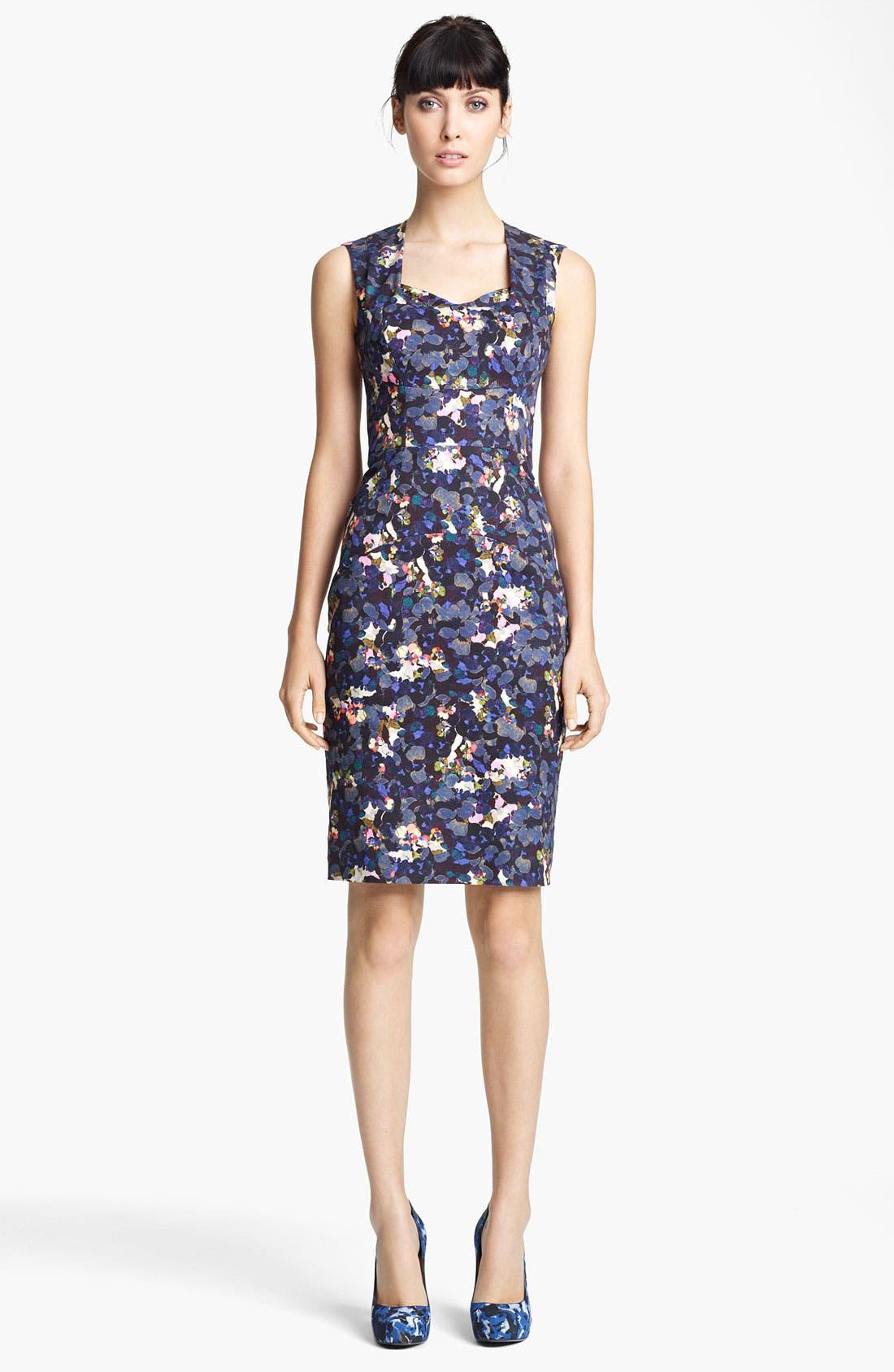 Alternate Image 1 Selected - Erdem Petal Print Sleeveless Dress