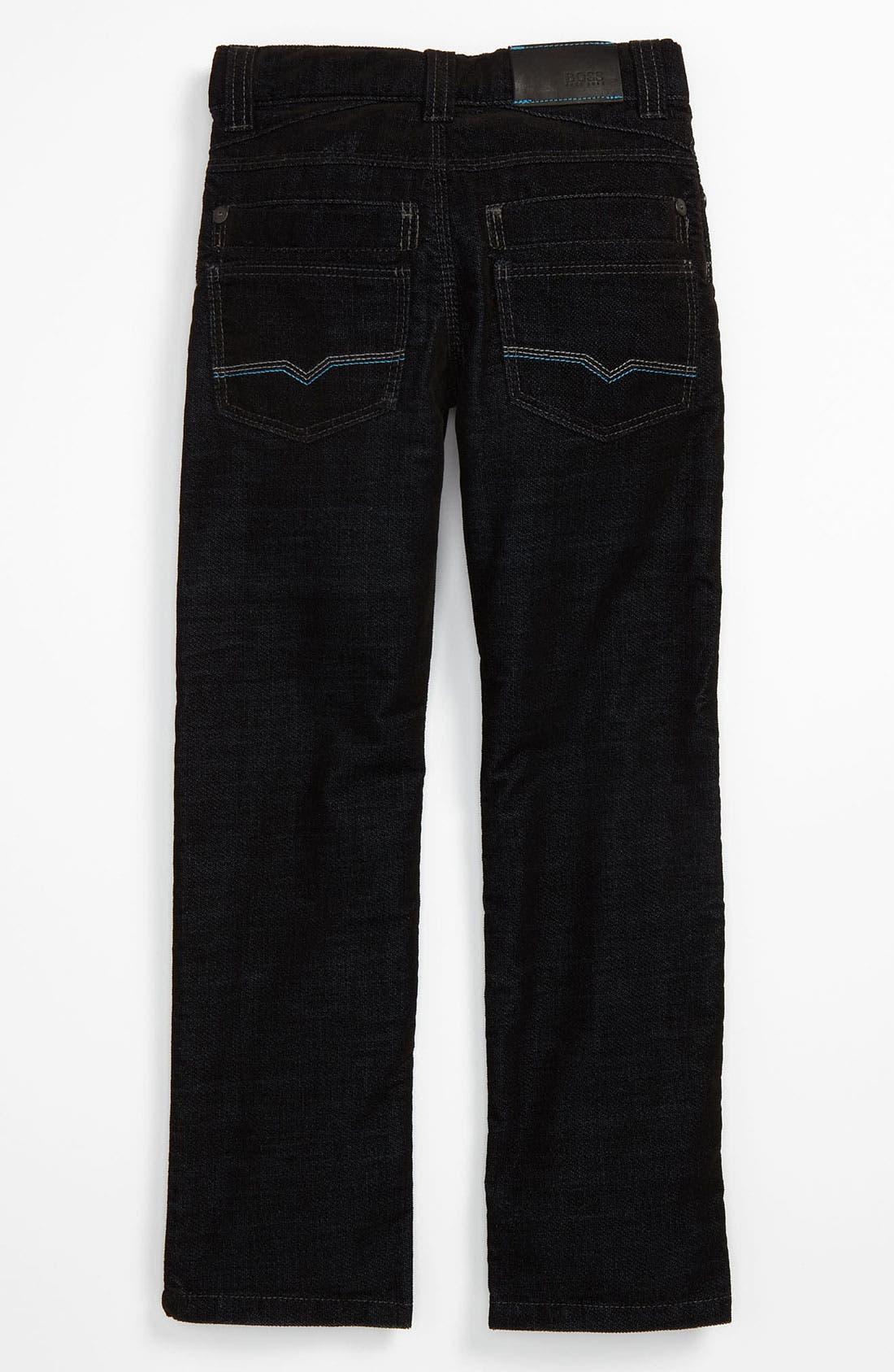 Alternate Image 1 Selected - BOSS Kidswear Velvet Pants (Big Boys)