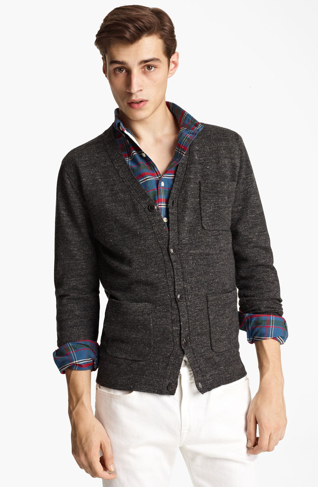 Main Image - Grayers Wool & Linen Button Cardigan