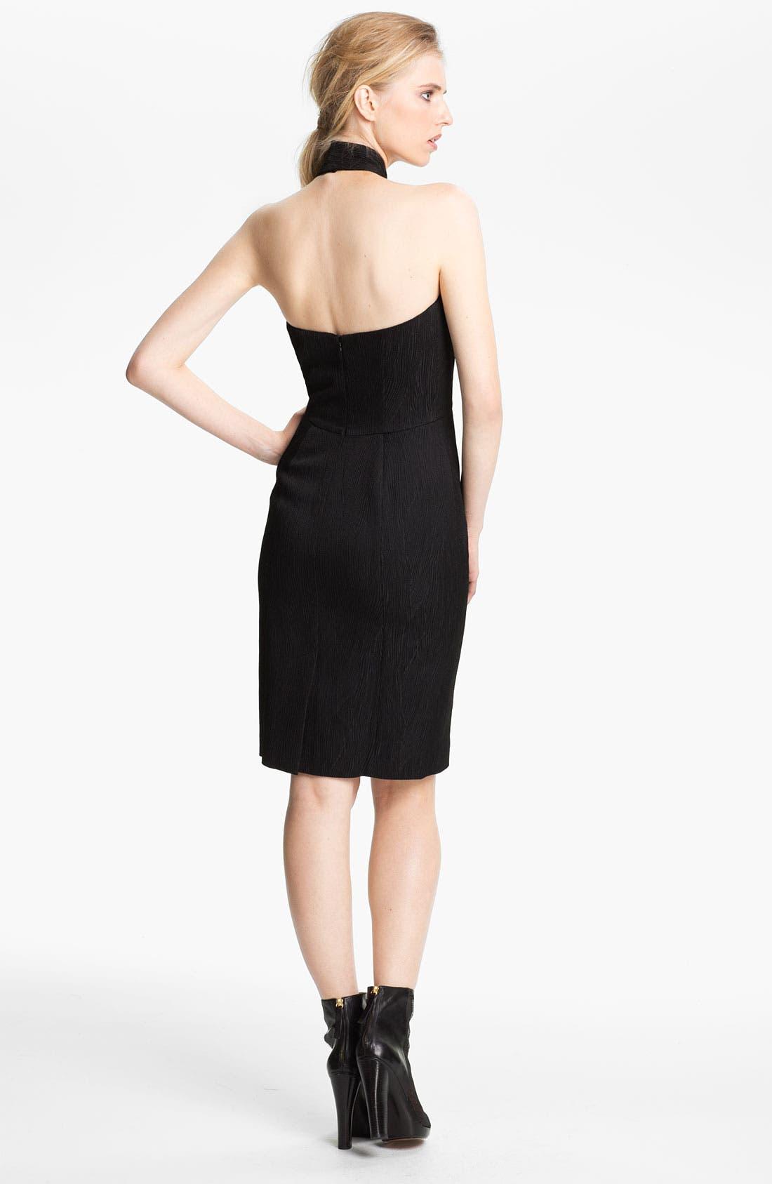 Alternate Image 2  - Rachel Zoe 'Dree' Jacquard Halter Dress