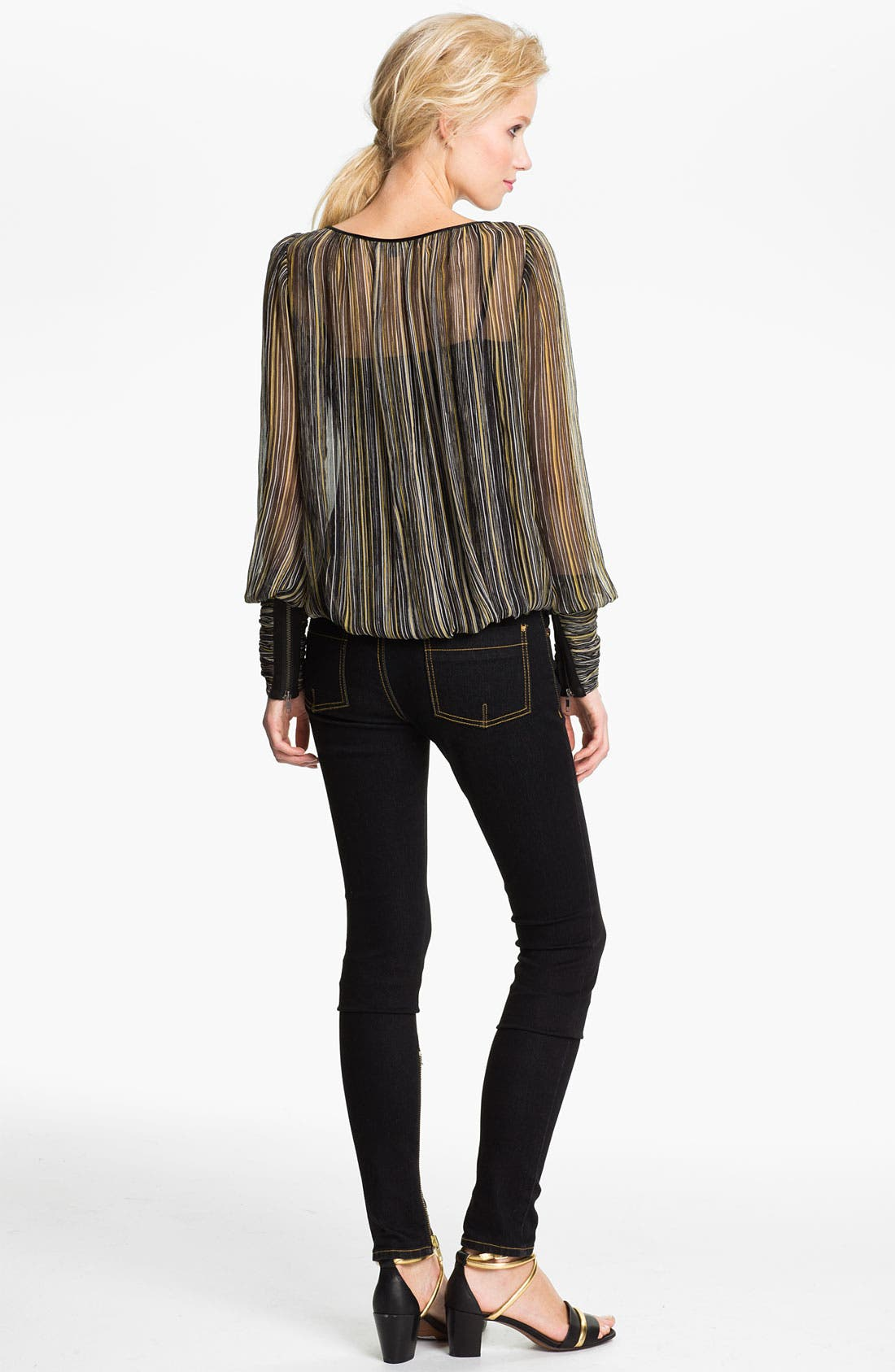 Alternate Image 2  - Rachel Zoe 'Sabina' Multicolor Stripe Silk Blouse