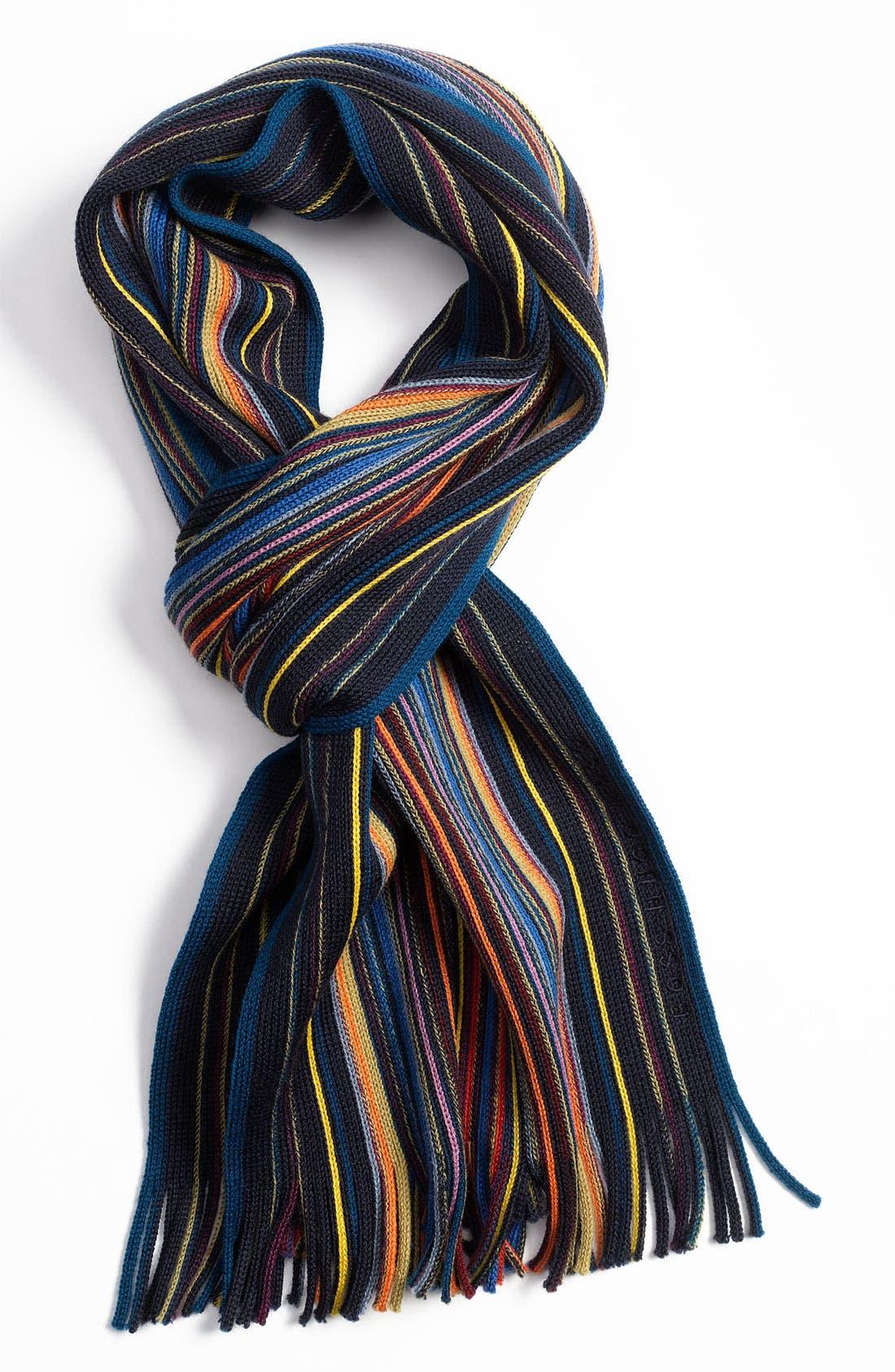 Alternate Image 1 Selected - BOSS Black 'Farion' Wool Scarf